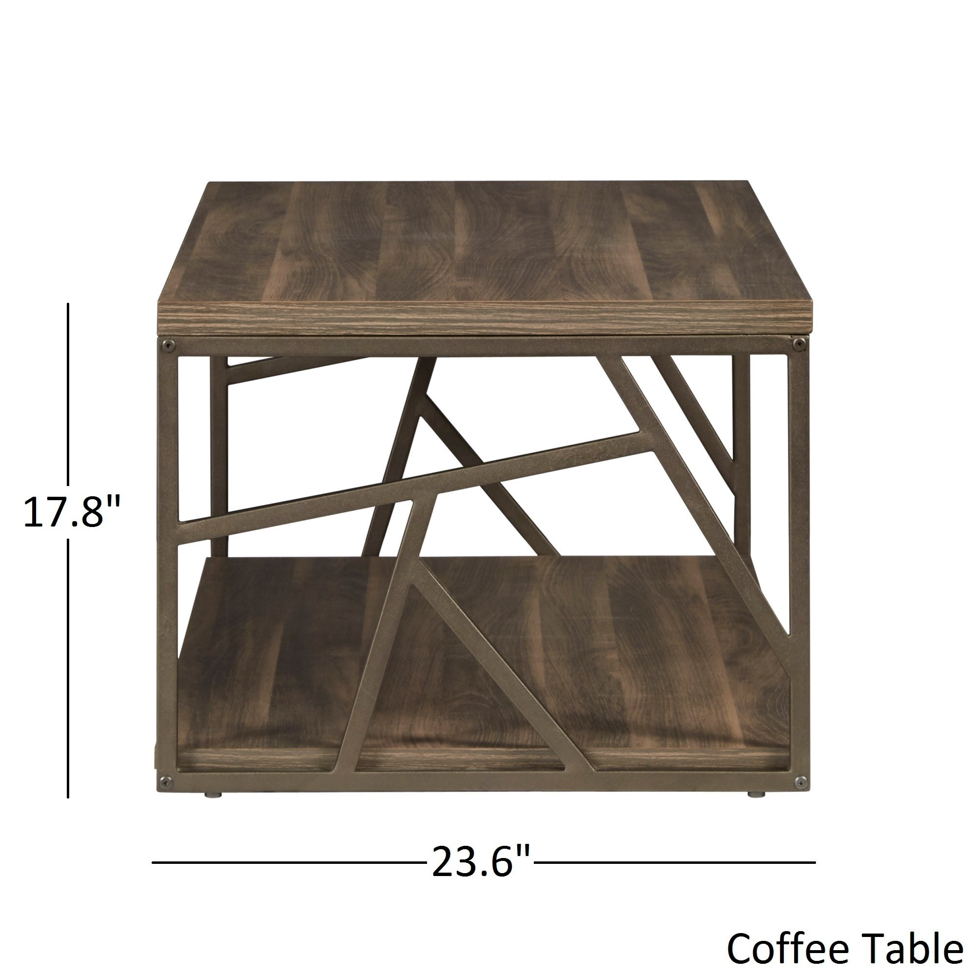 Shop Lincoln Metal Contemporary Distressed Wood Coffee Table Or Side - Distressed wood and metal coffee table