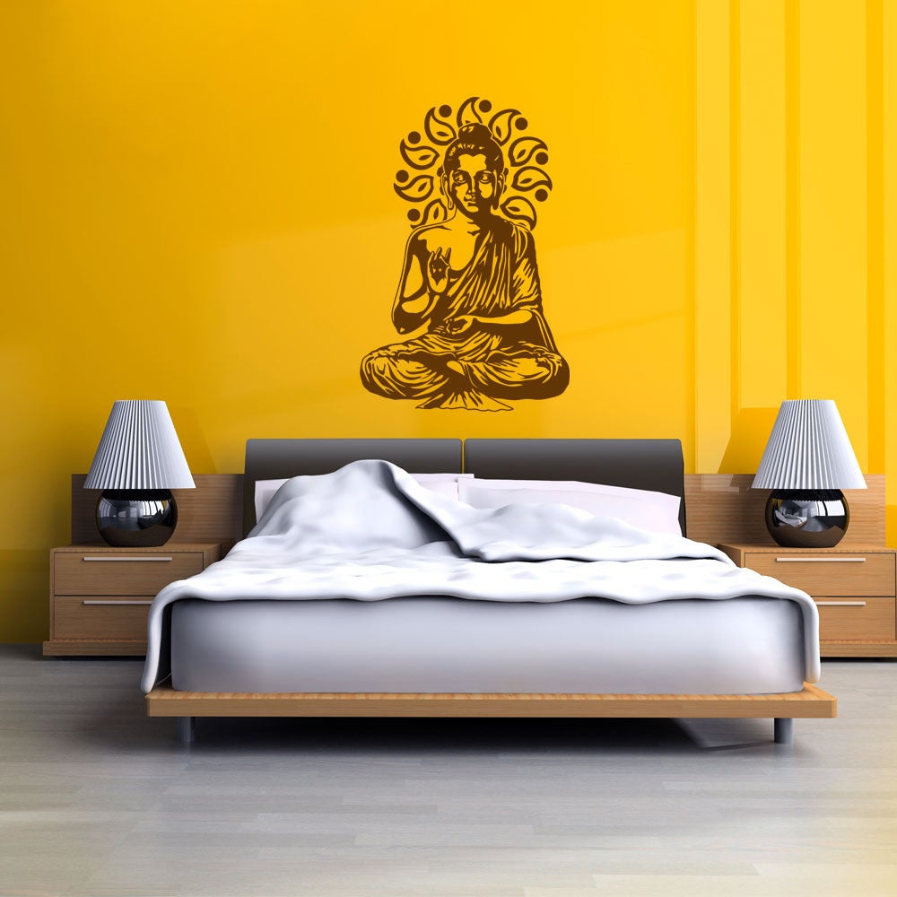 Shop Sitting Buddha Exotic Vinyl Wall Art - On Sale - Free Shipping ...