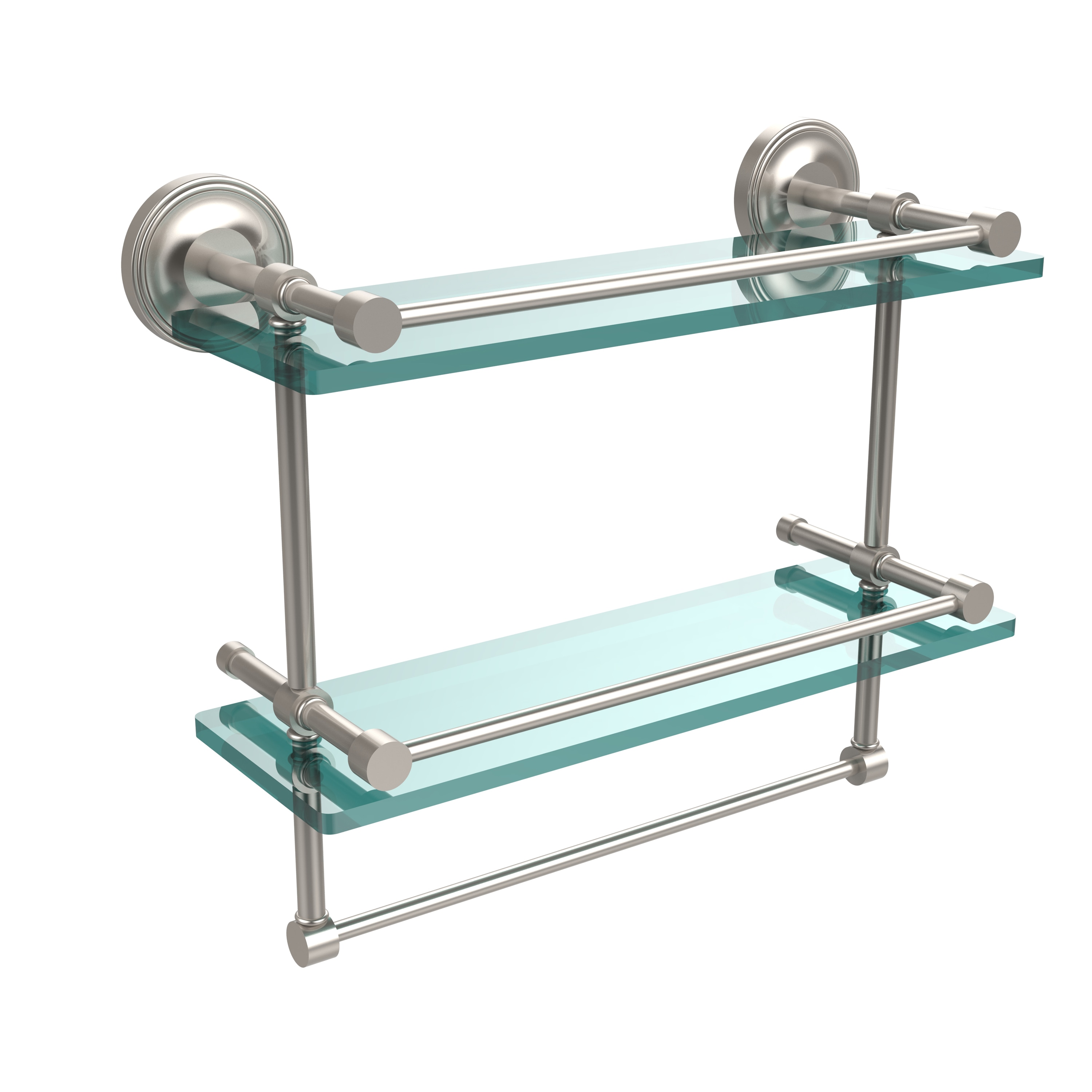 Gallery Double Glass Shelf with Towel Bar - Free Shipping Today ...