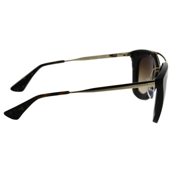 d390424541 Shop Prada Women s Cinema PR 09QS 2AU6S1 Havana Cat Eye Sunglasses - Free  Shipping Today - Overstock - 10391625
