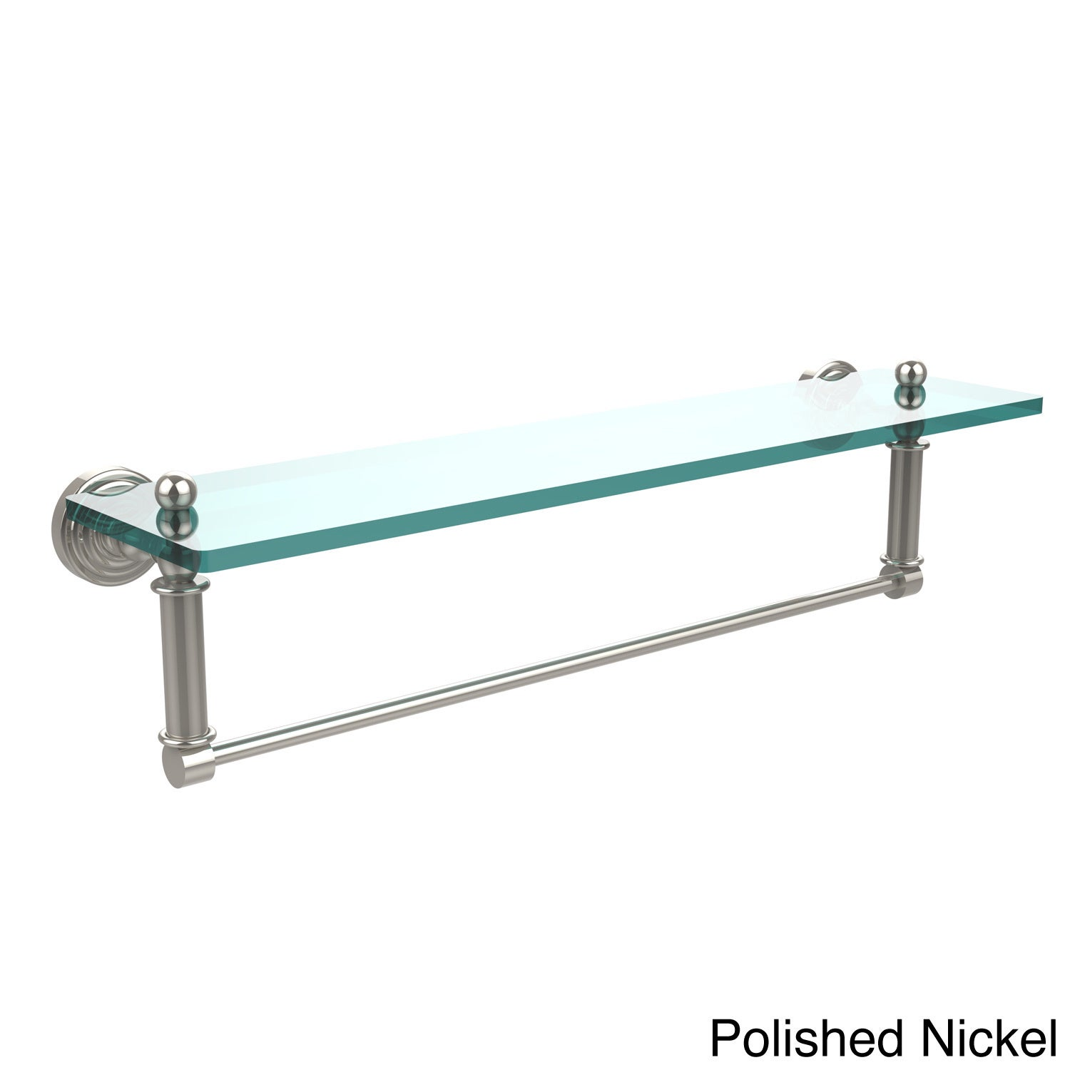 Shop Waverly Place Collection 22-inch Glass Vanity Shelf and ...