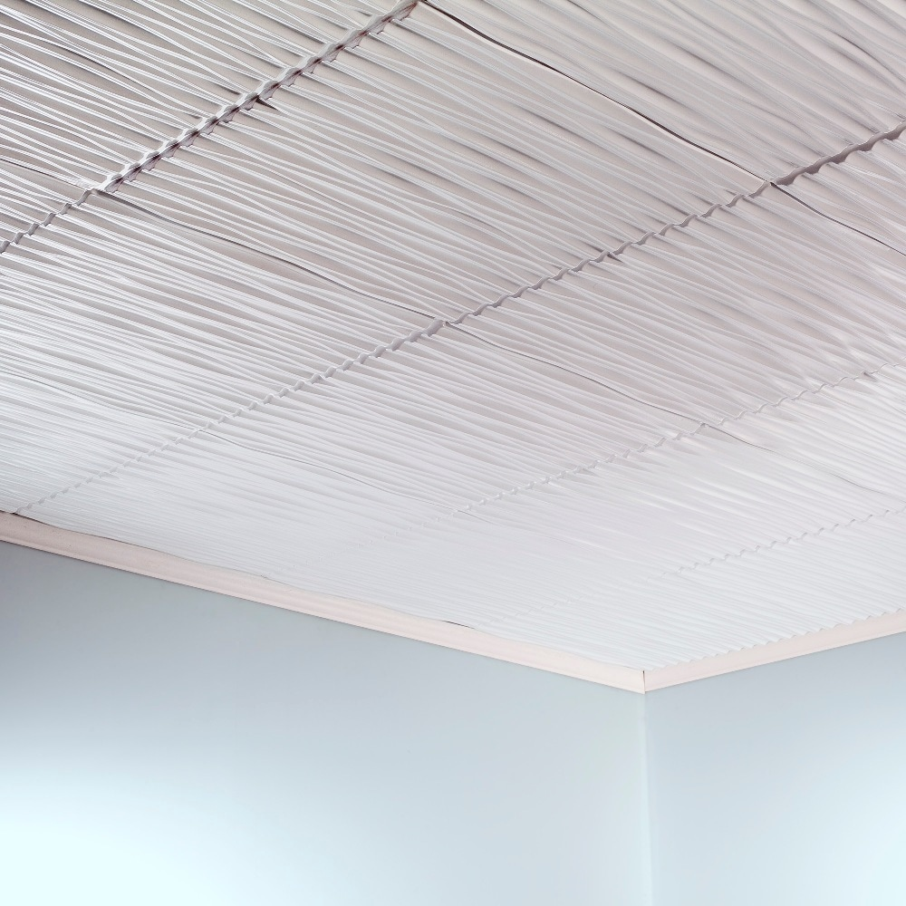 Fasade dunes horizontal gloss white 2 foot x 2 foot glue up ceiling fasade dunes horizontal gloss white 2 foot x 2 foot glue up ceiling tile free shipping on orders over 45 overstock 17495152 dailygadgetfo Image collections
