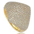 Suzy Levian Sterling Silver Pave Cubic Zirconia Modern Pave Ring