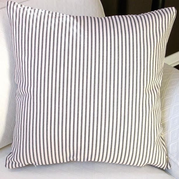 Shop Artisan Pillows Indoor 40inch French Ticking Stripe In Black Magnificent French Pillows Home Decor
