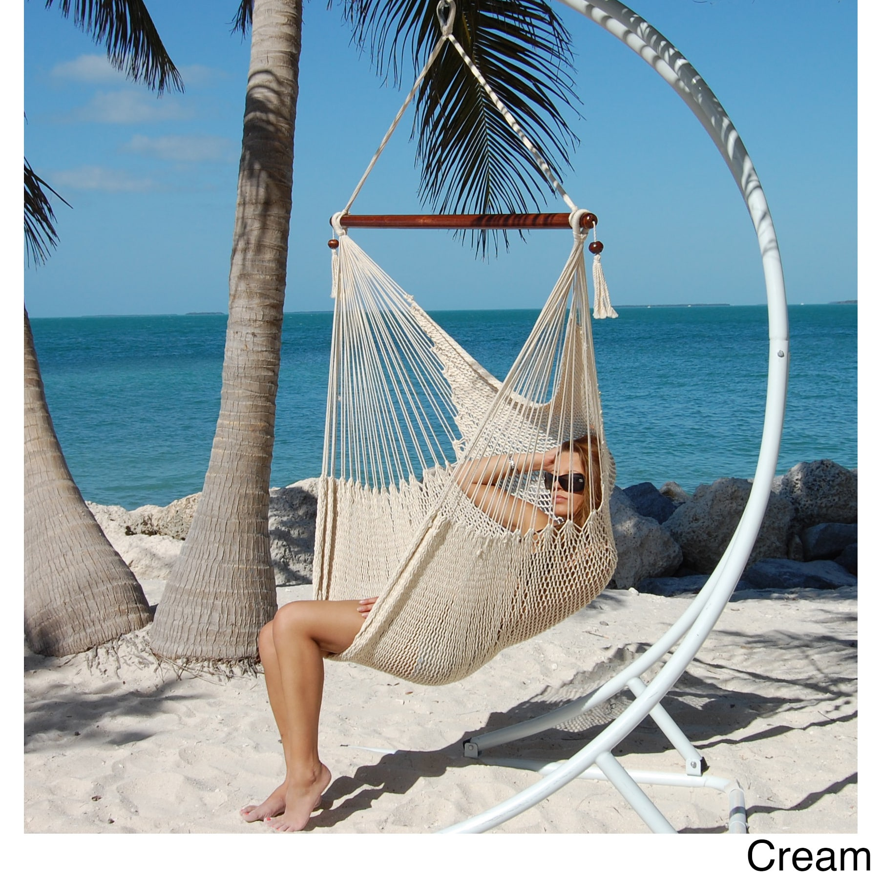 large caribbean hammock chair   free shipping today   overstock     17499602 large caribbean hammock chair   free shipping today   overstock      rh   overstock