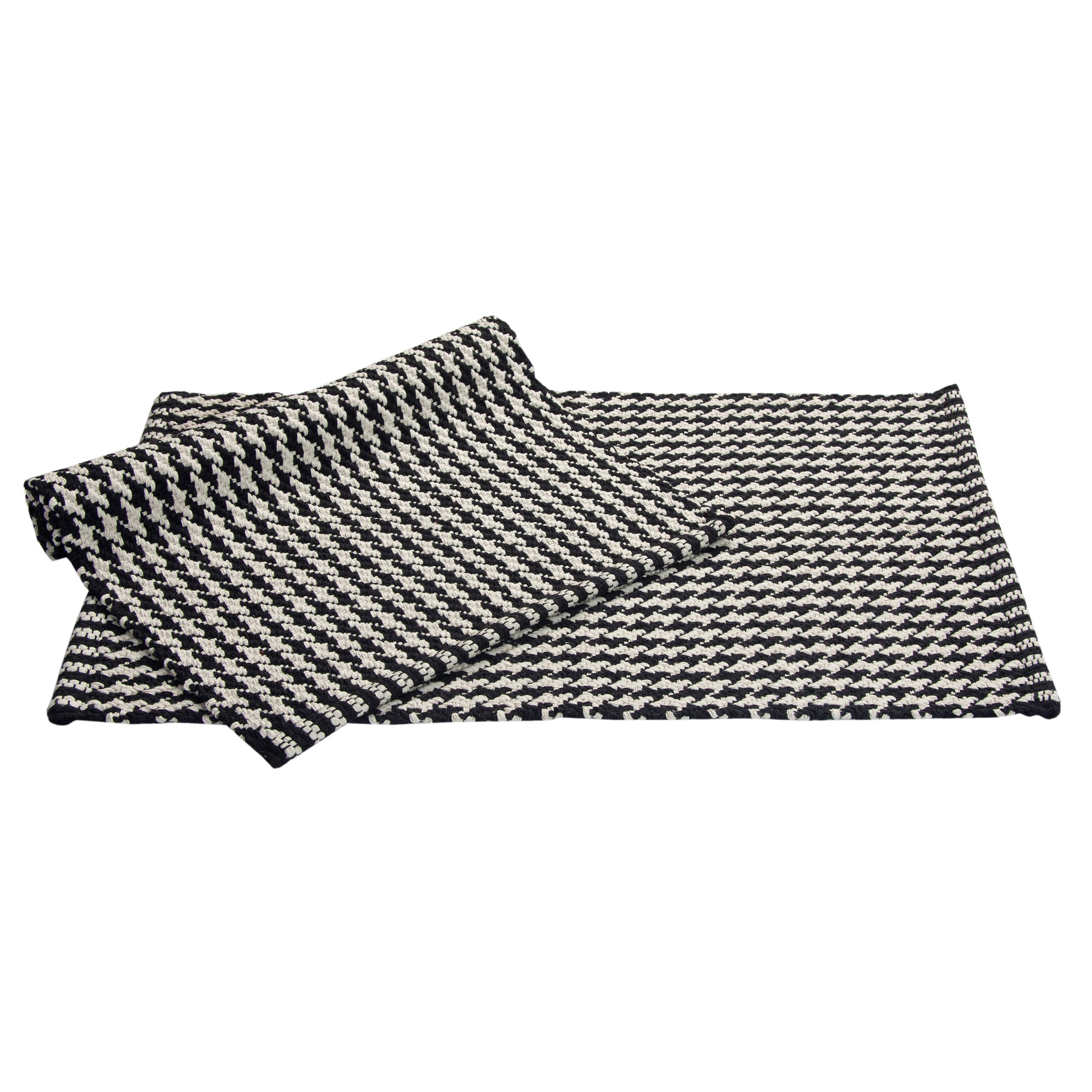 Portland Houndstooth 2 Piece Black Accent Rug Set 1 9 X 10 Free Shipping On Orders Over 45 10397124