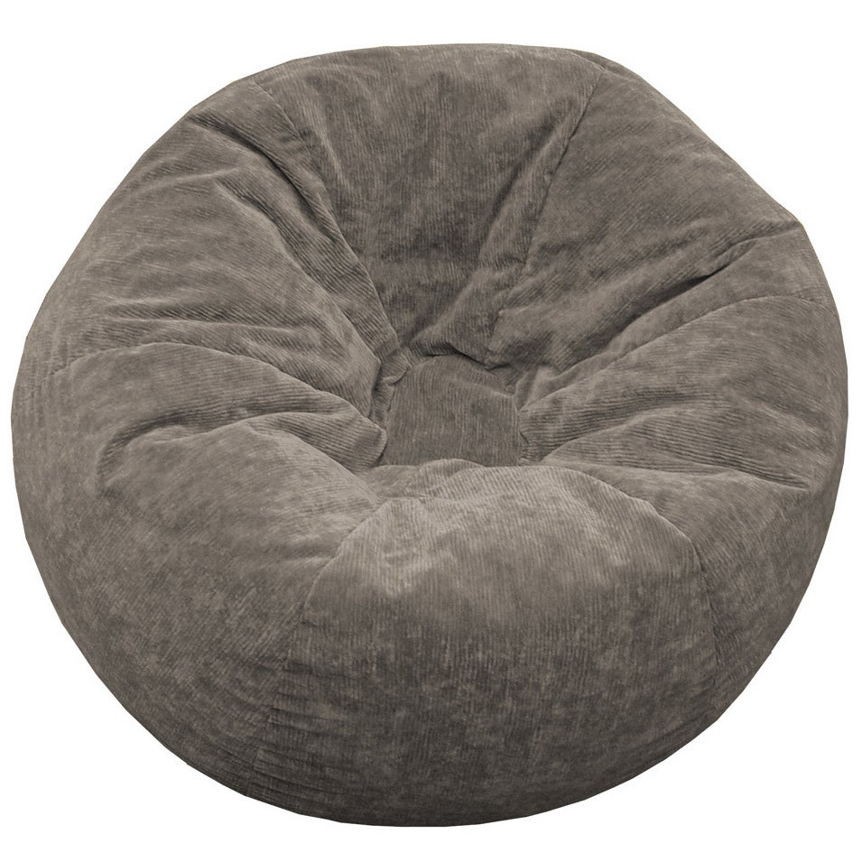 Attirant Shop Gold Medal Adult Sueded Corduroy Bean Bag Chair   Free Shipping Today    Overstock.com   1039785