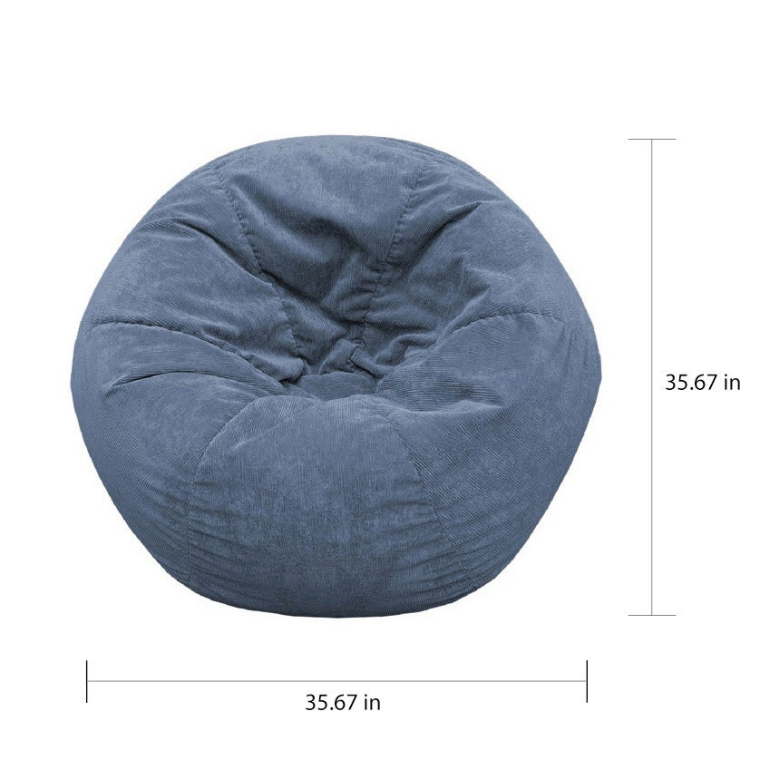 Gold Medal Sueded Corduroy Bean Bag Chair Free Shipping Today 1039785