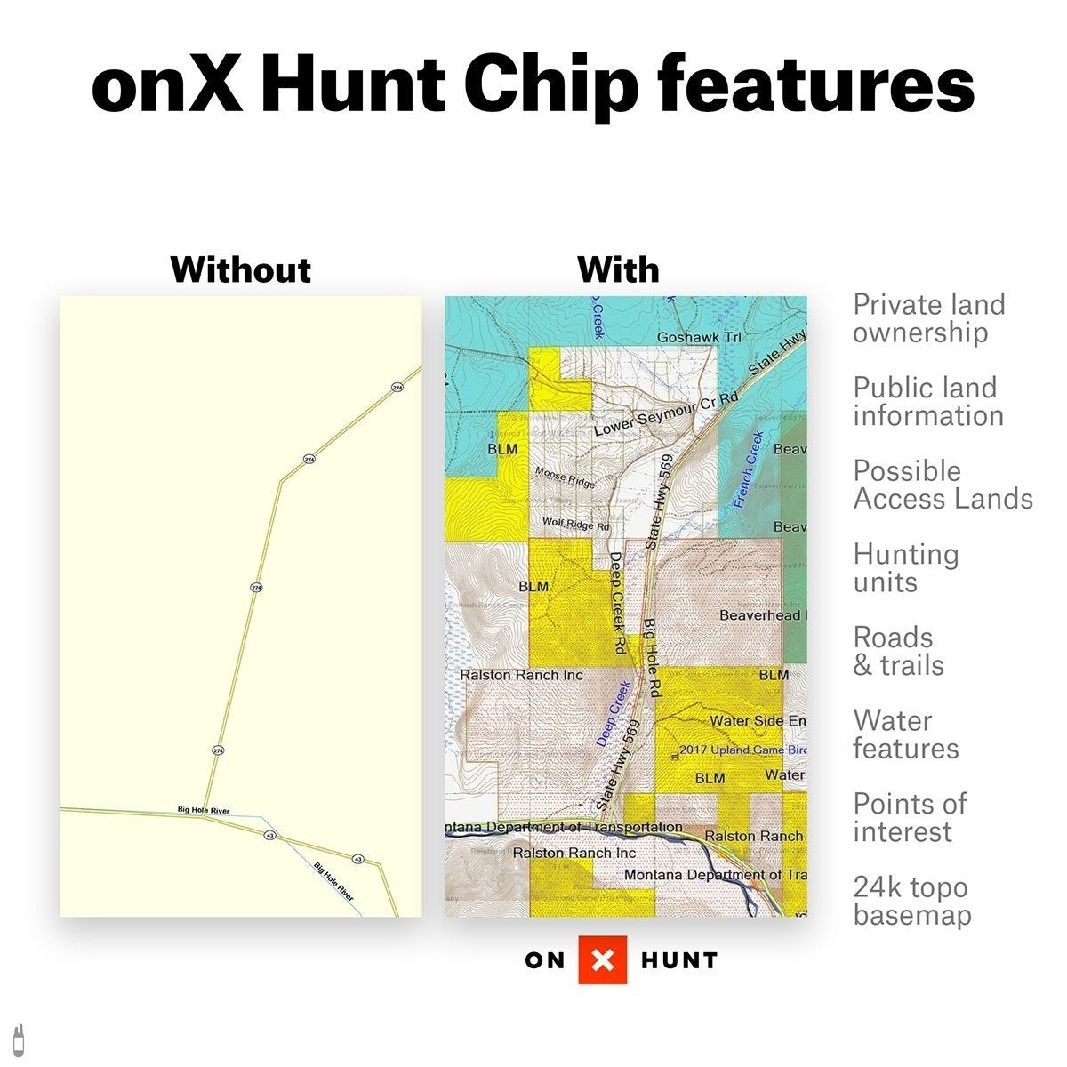 Blm Land Idaho Map.Shop Onx Hunt Idaho Public Private Land Ownership 24k Topo Maps For