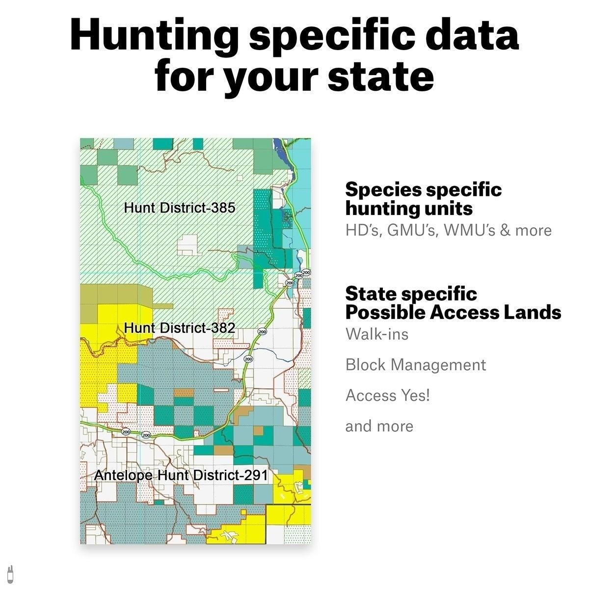 Shop onX Hunt Washington: Public/Private Land Ownership 24k Topo ...