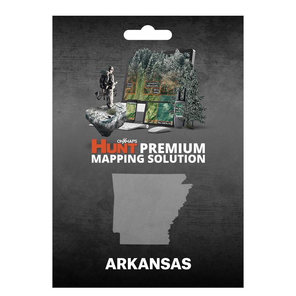 Shop OnX Hunt Arkansas Public Private Land Ownership K Topo Maps - Arkansas land ownership maps