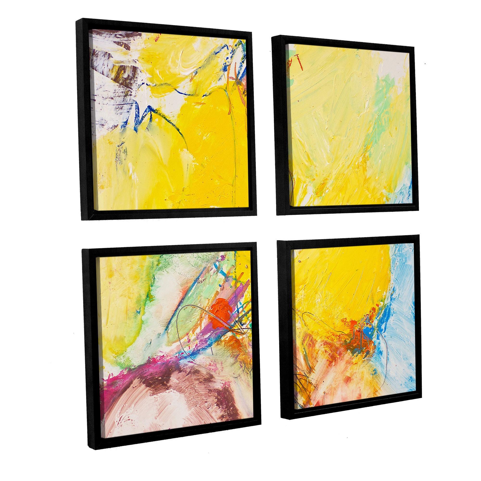 ArtWall Allan Friedlander \'Crystal\' 4 Piece Floater Framed Canvas ...