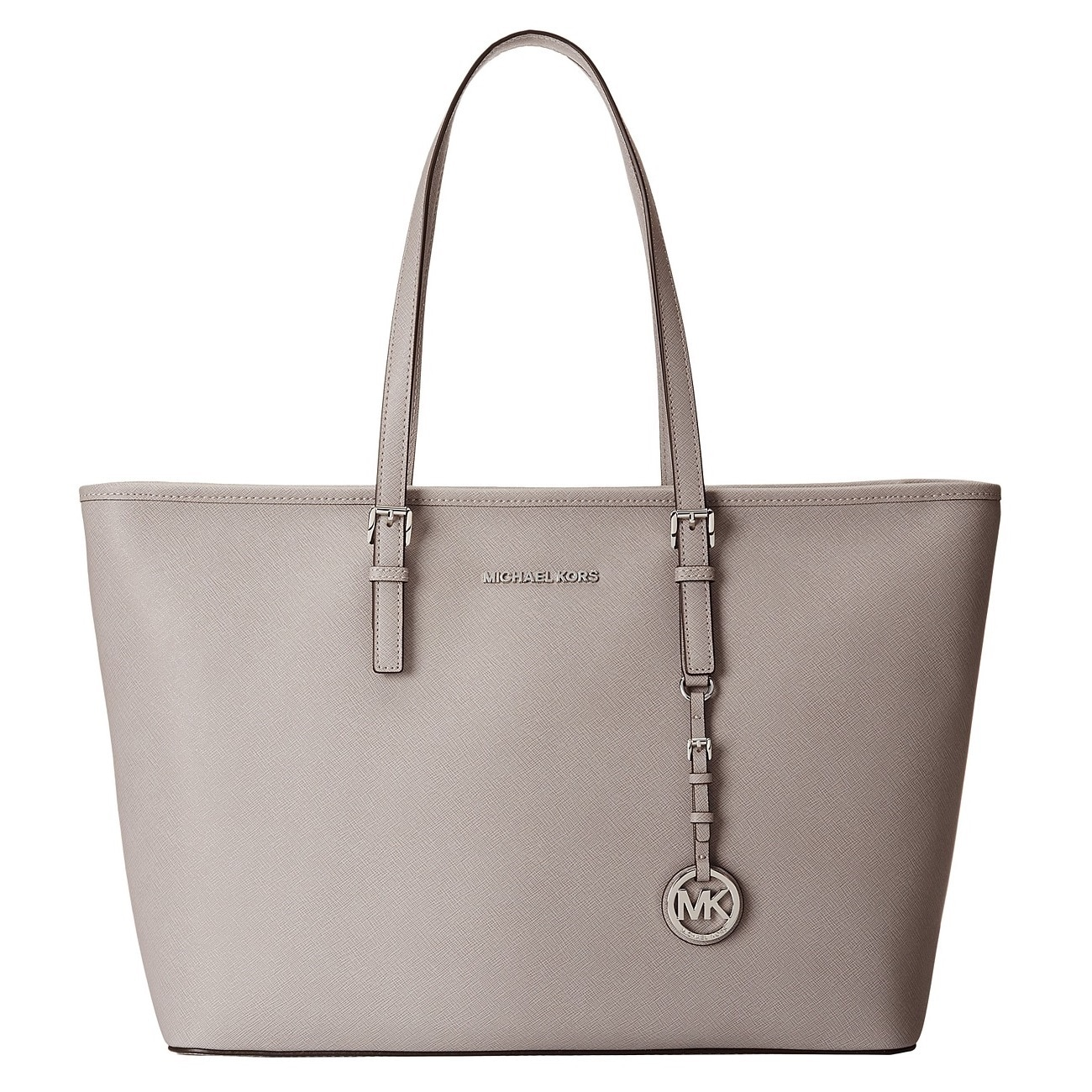 e5f28b9f13c0 Shop Michael Kors Jet Set Pearl Grey Medium Tote Handbag - Free Shipping  Today - Overstock - 10399273