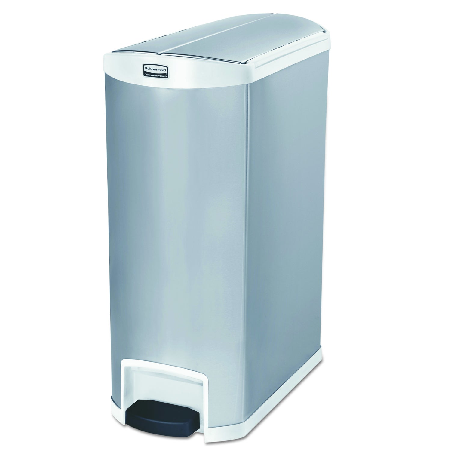 Slim Jim Stainless Steel End Step Style 24 gal White Step-On ...