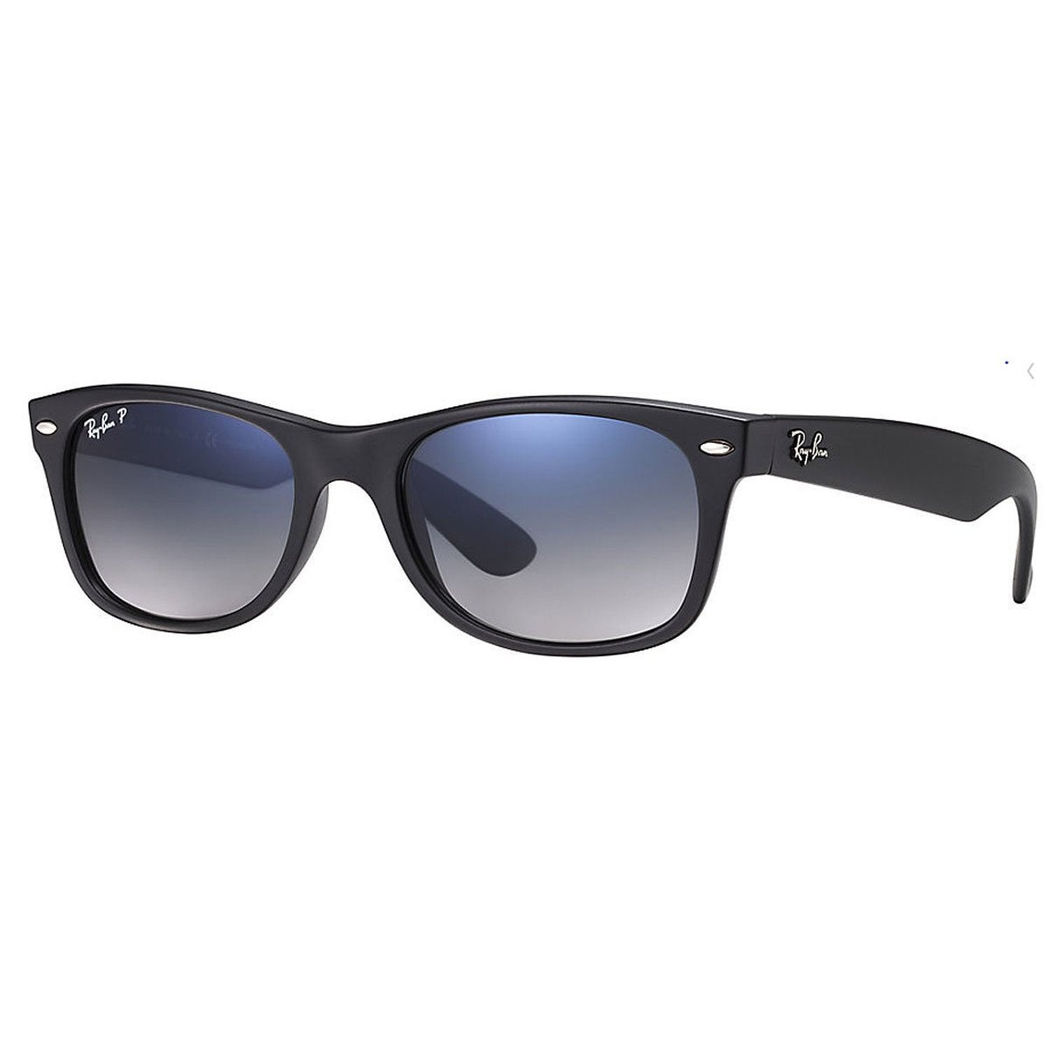 44924a415bd Shop Ray-Ban RB2132 New Wayfarer Black Polarized Sunglasses - Free ...