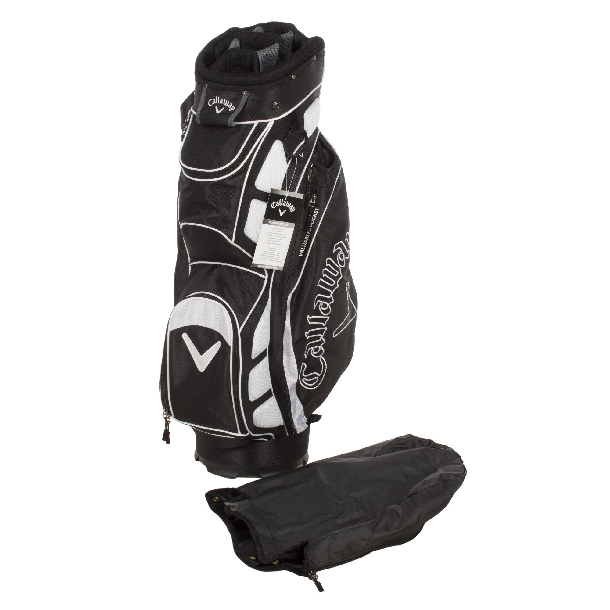 Callaway Razr Edge Cart Bag in Black and White