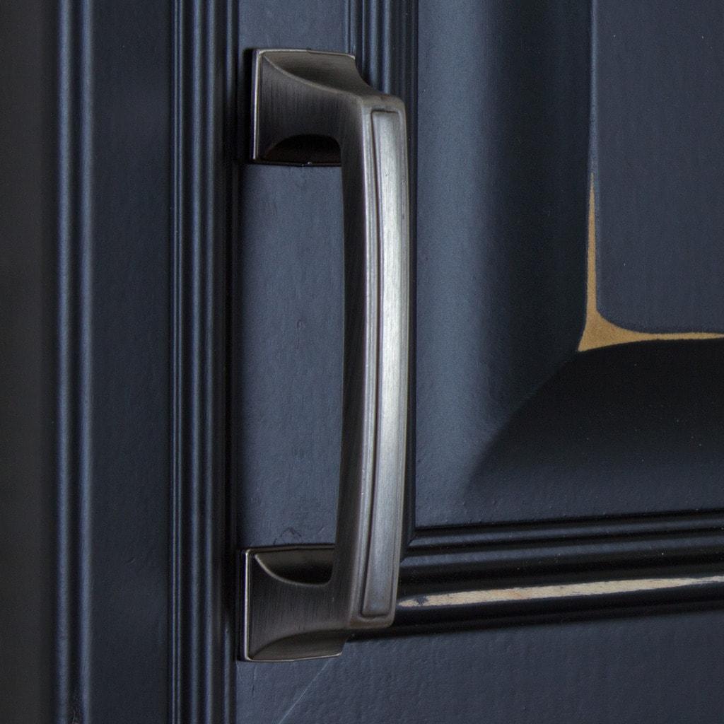 Shop GlideRite 3-inch CC Satin Pewter Cabinet Hardware Deco Base ...