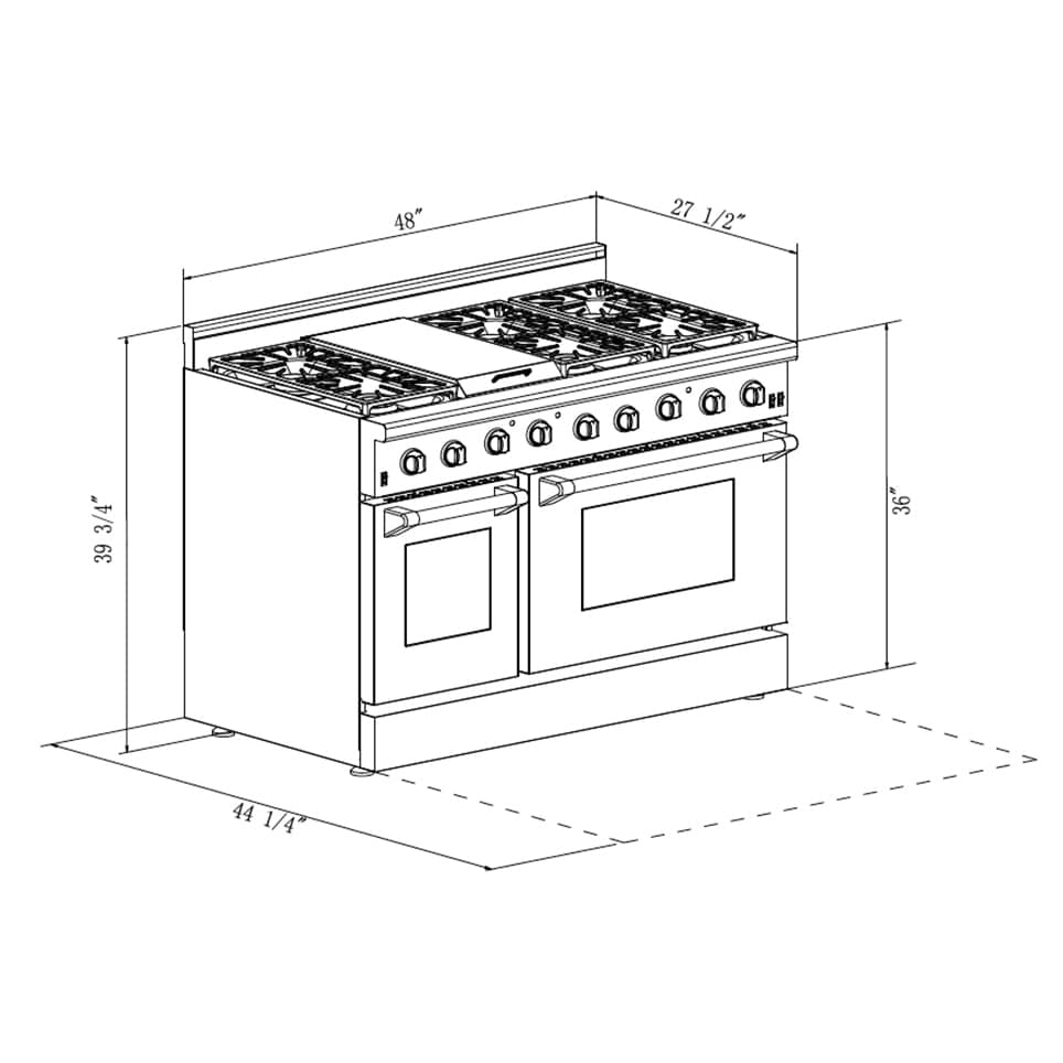 Thor Kitchen Stainless Steel 48-inch 6-burner Professional Gas Range ...