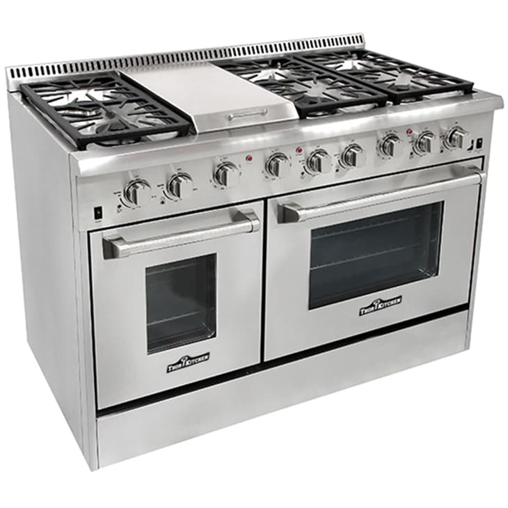 Shop Thor Kitchen Stainless Steel 48 Inch 6 Burner Professional Gas Range  And Griddle   Free Shipping Today   Overstock.com   10401399