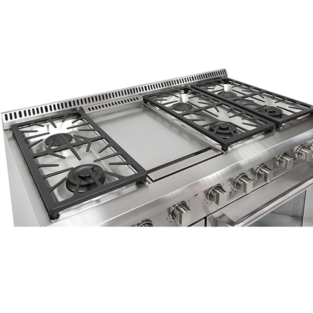 Shop Thor Kitchen 48 Inch Stainless Steel Professional Gas Range With 6  Burners And Griddle   Free Shipping Today   Overstock   10401399