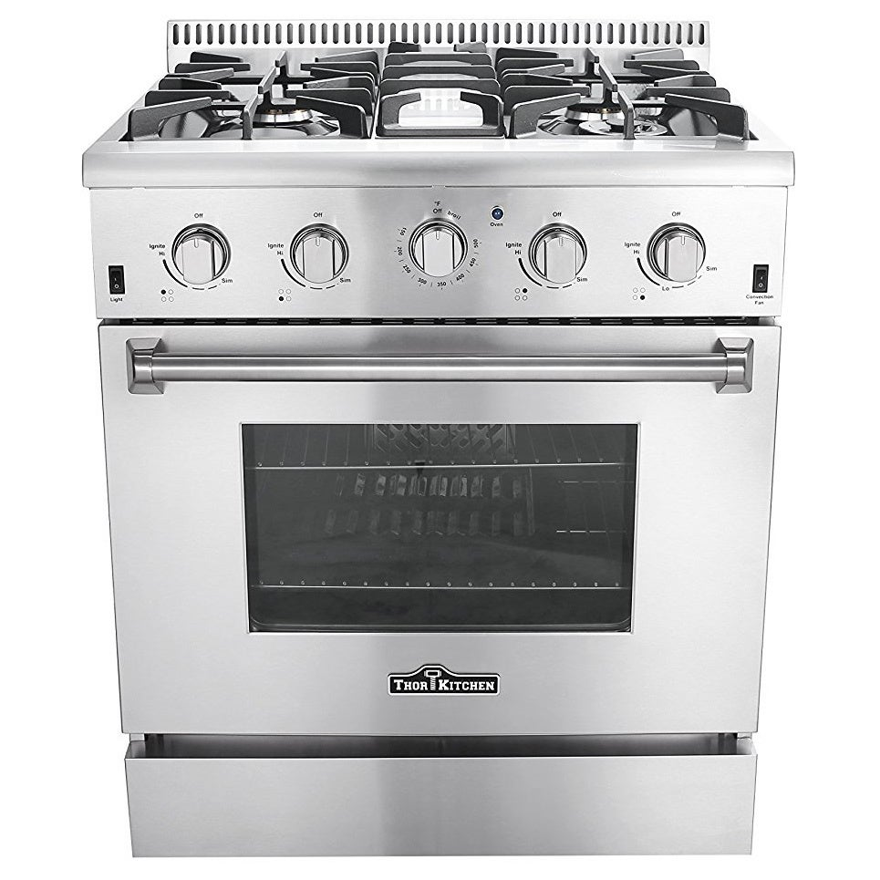 Thor Kitchen 30-inch Stainless Steel Professional Gas Range with 4 ...