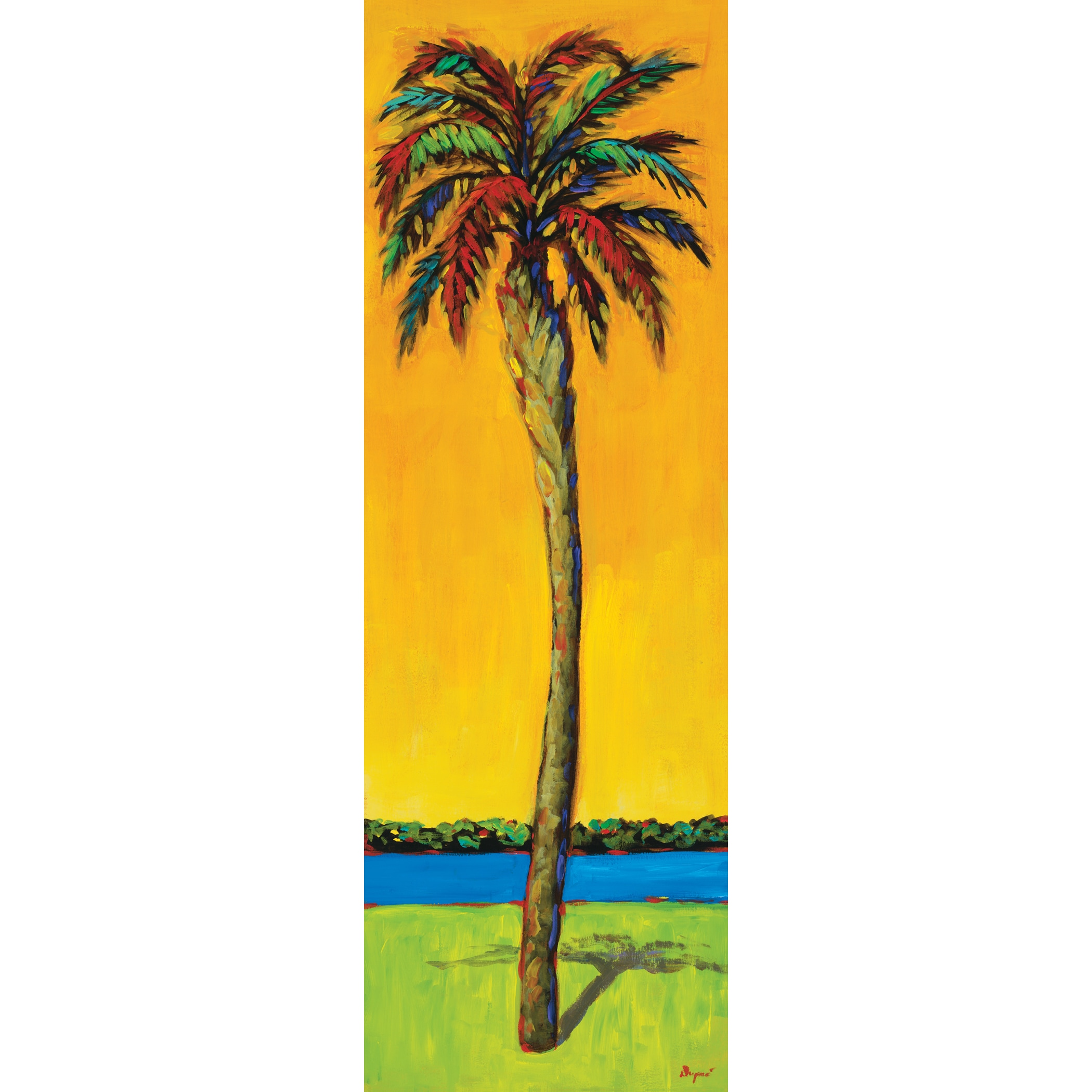 Portfolio Canvas Decor Dupre \'Palms Up I\' 12x36 Framed Canvas Wall ...