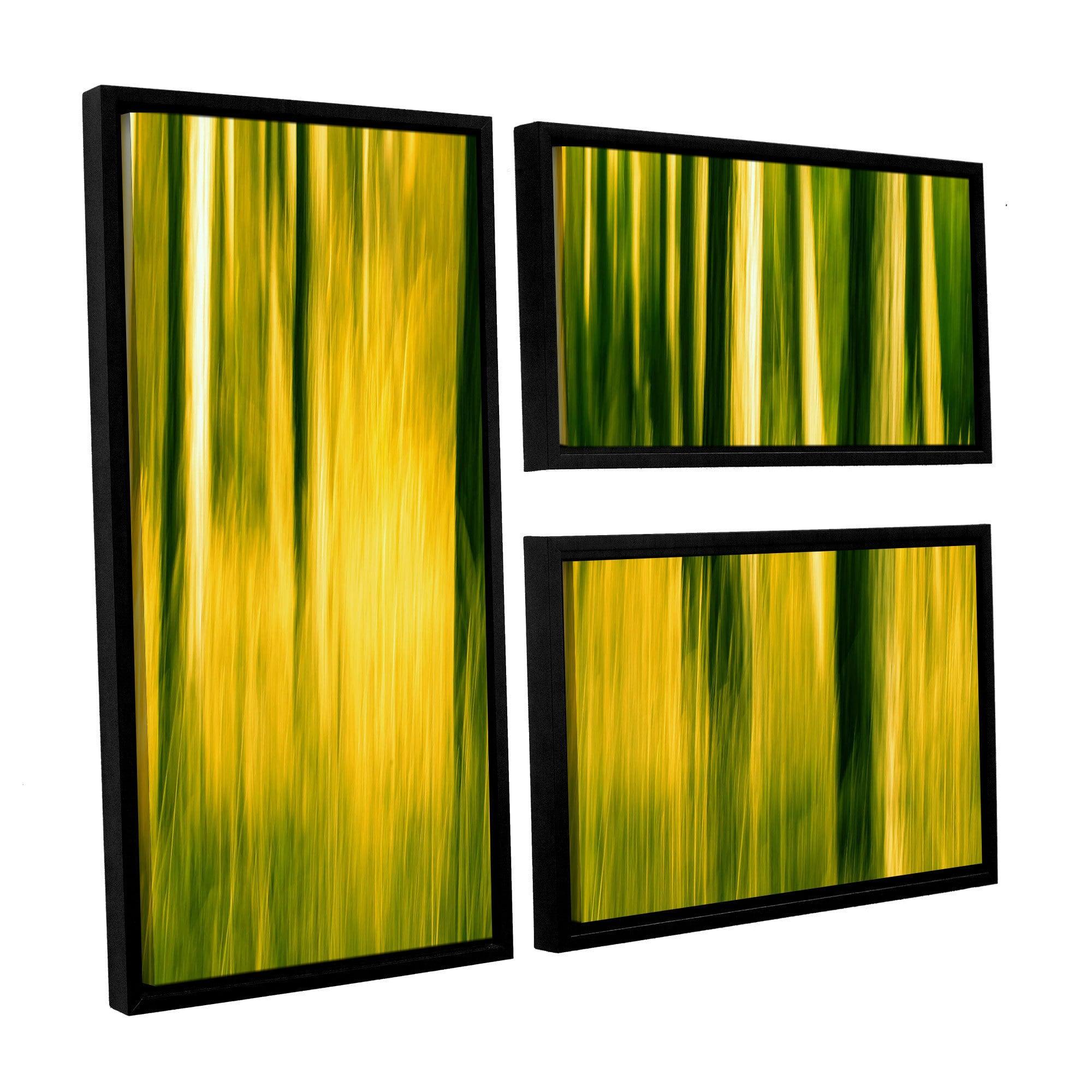 ArtWall Lindsey Janich \'Camera Shake 2\' 3 Piece Floater Framed ...