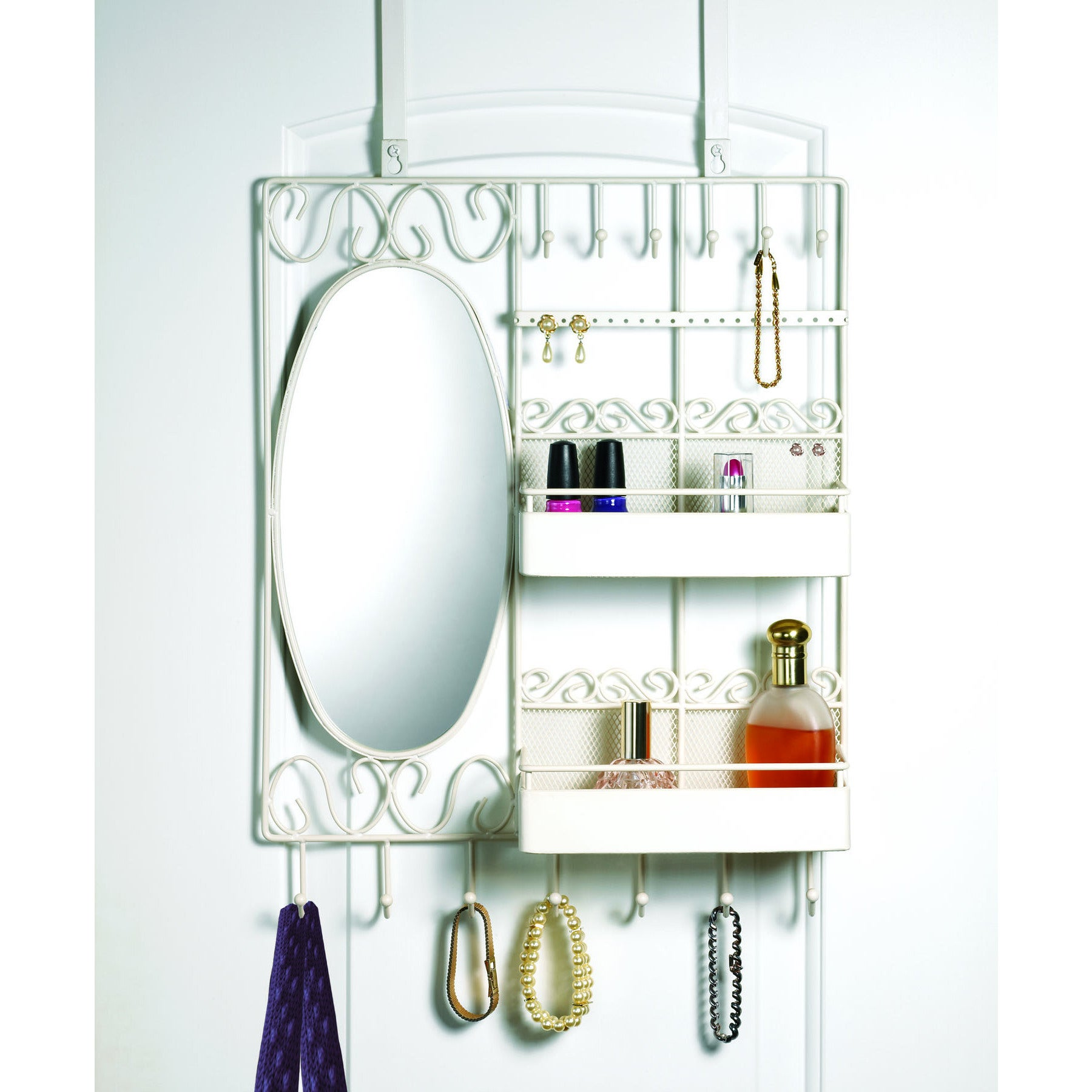 Merveilleux Shop Over The Door Vanity Scroll Jewelry And Cosmetic Organizer   Free  Shipping On Orders Over $45   Overstock.com   10404912