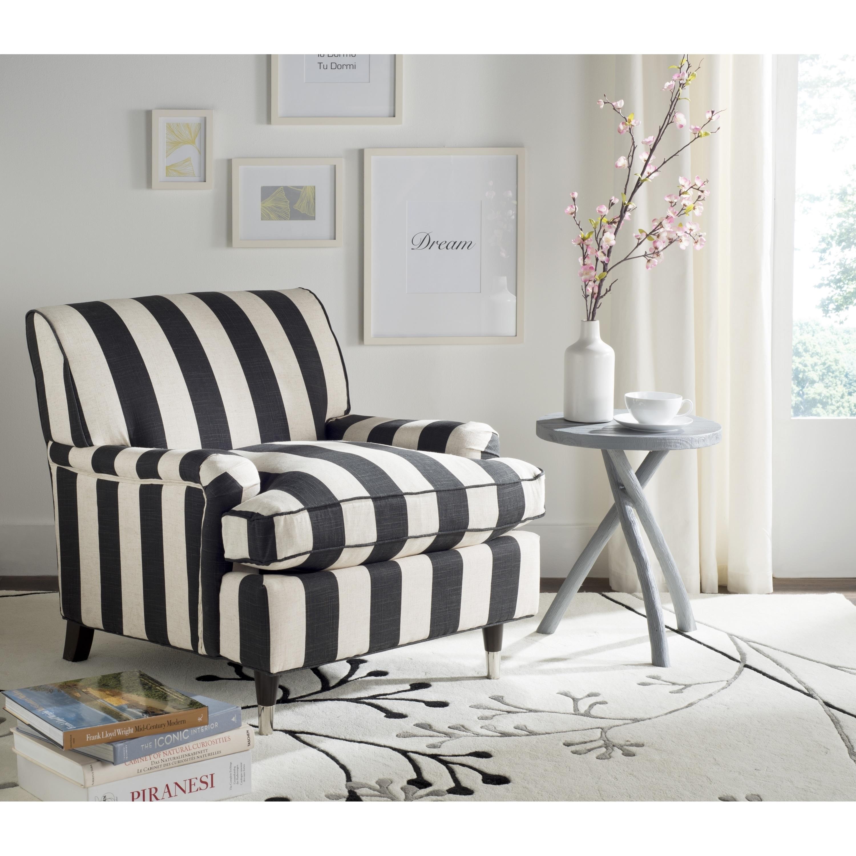 Shop Safavieh Chloe Black / White Club Chair - On Sale - Free ...