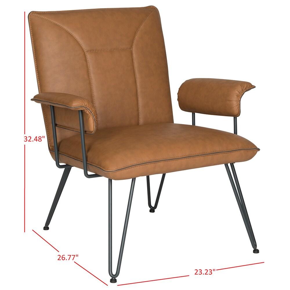 Shop Safavieh Mid Century Modern Johannes Camel Arm Chair   Free Shipping  Today   Overstock.com   10405618