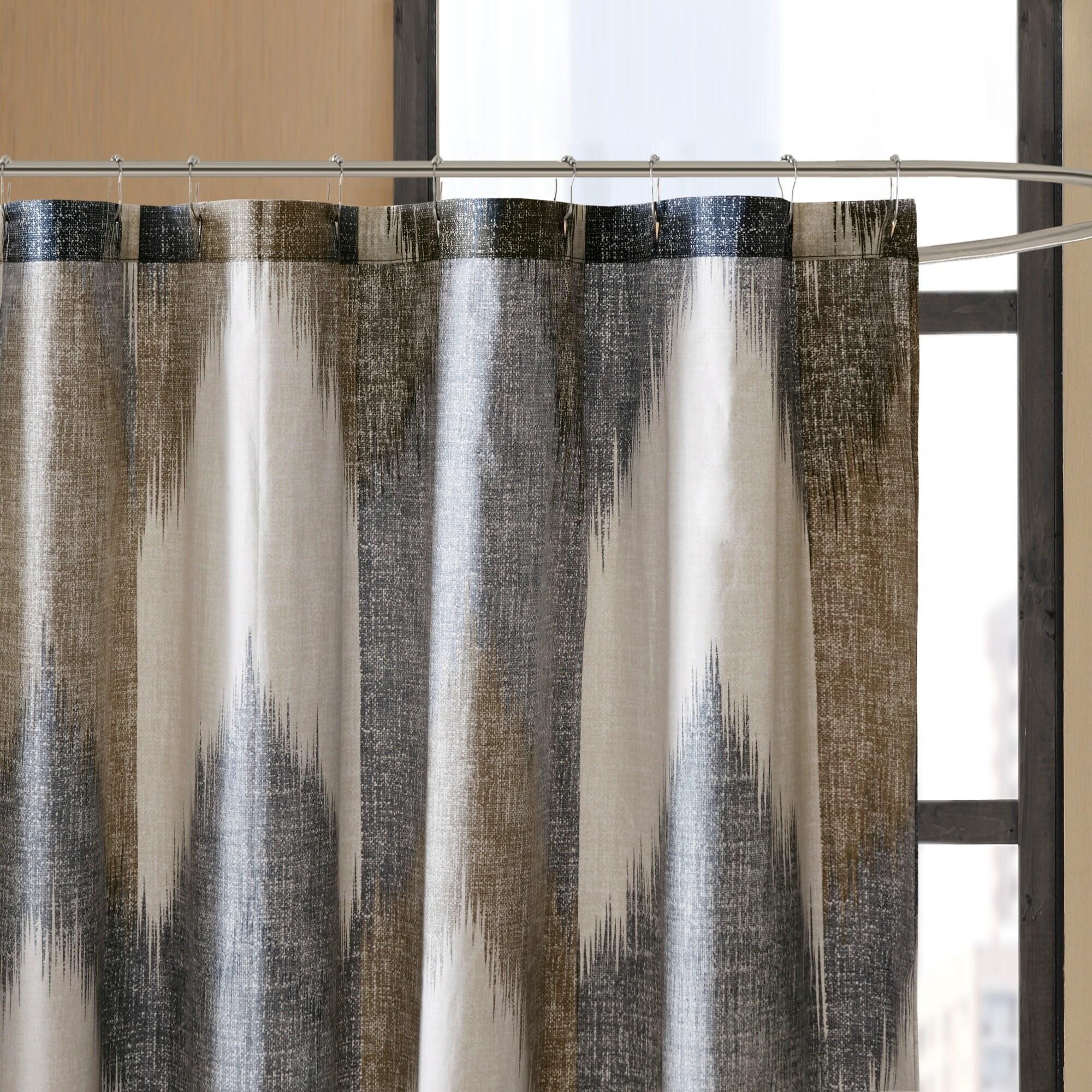 Shop Carson Carrington Mazeikiai Cotton Printed Shower Curtain
