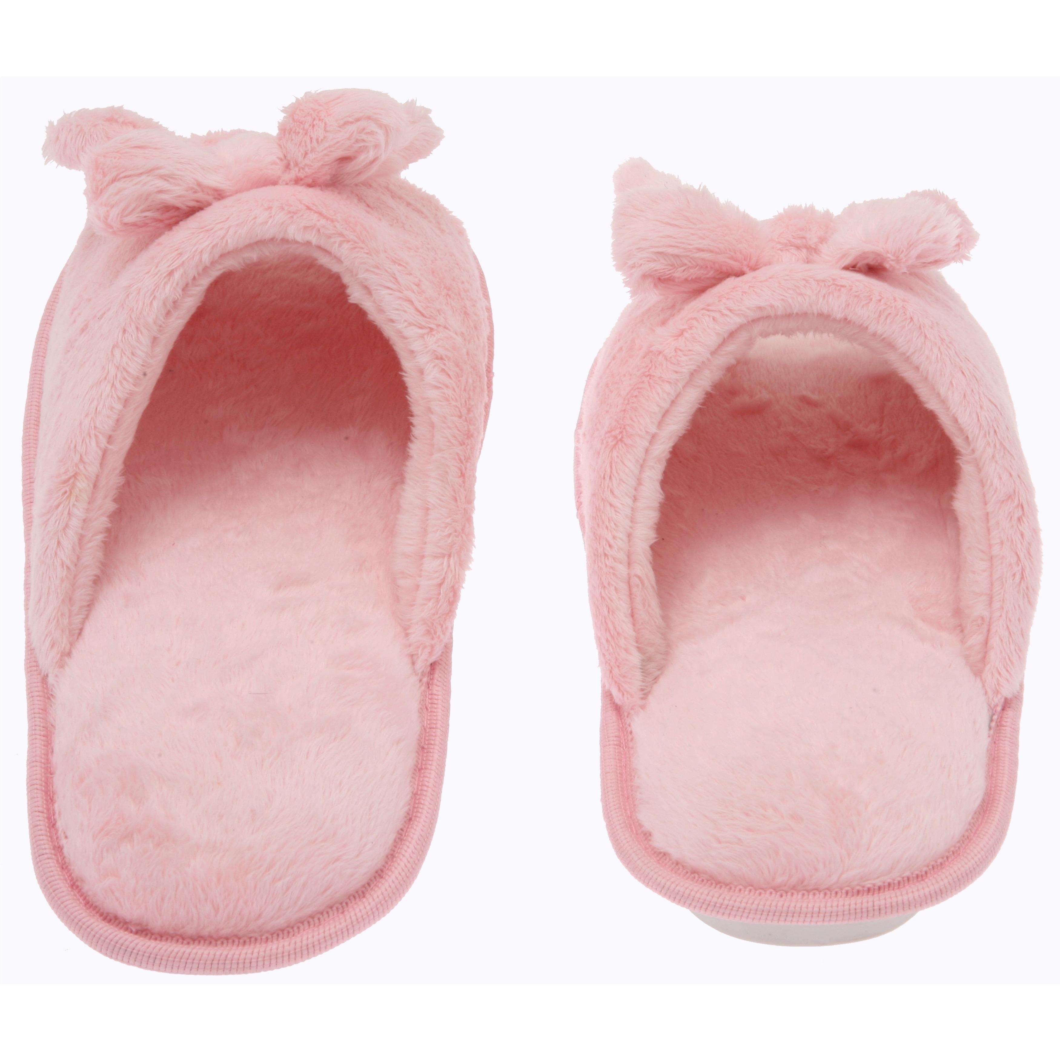 9d3103a7b37 Shop Women s Butterfly Bow Slip-On Memory Foam House Slippers - Open Toe -  Fleece Memory Foam - Non-Marking Rubber Sole - Pink - Free Shipping On  Orders ...