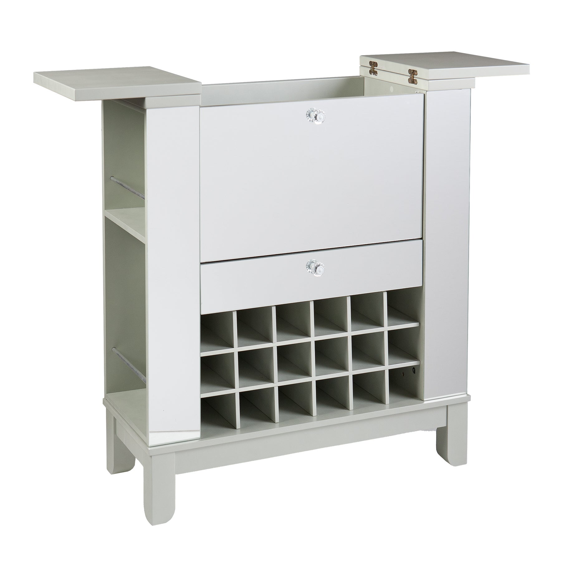 Harper Blvd Martindell Mirrored Fold Out Wine Bar Cabinet Free Shipping Today 17511310