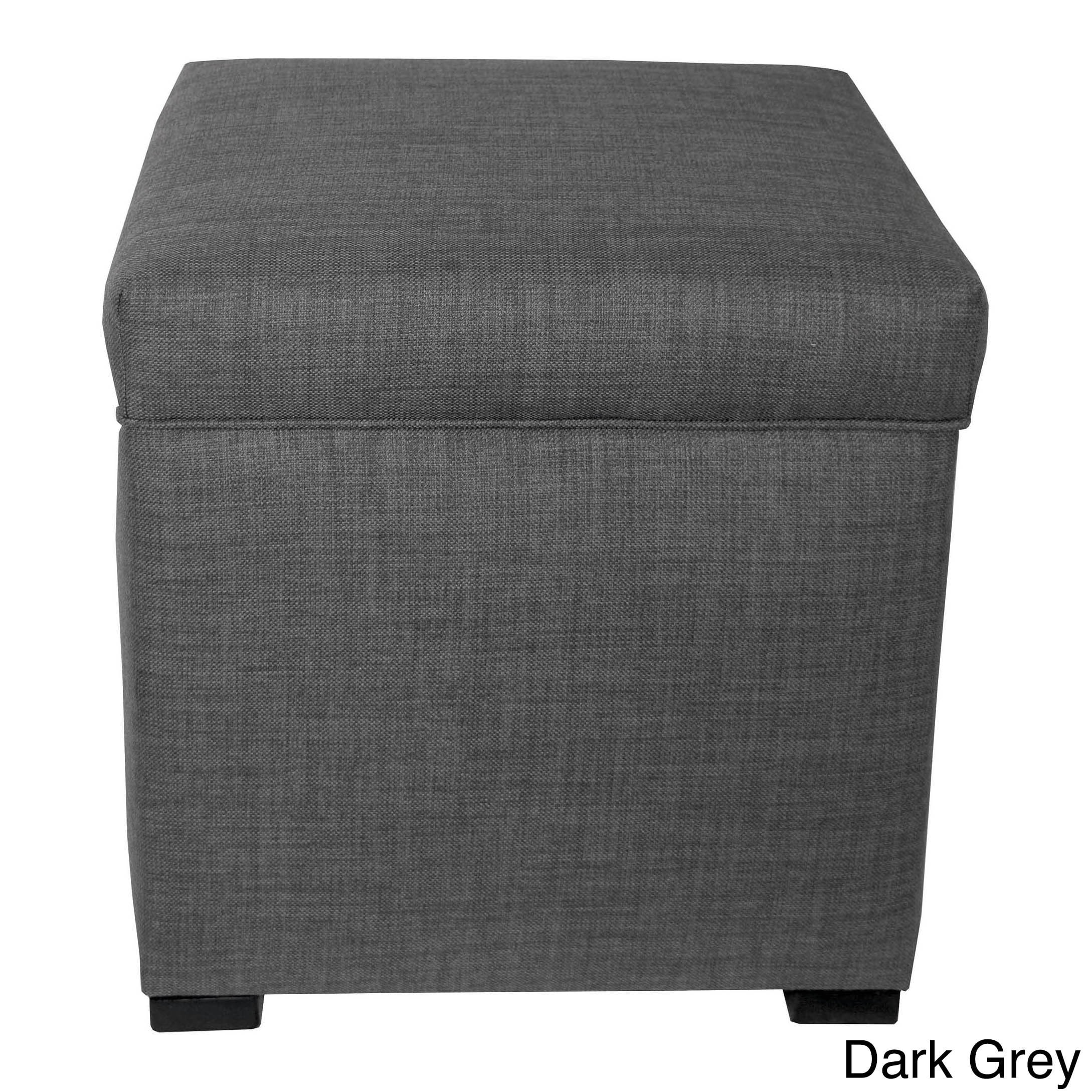 Bon Shop The Sole Secret Upholstered Mini Square Shoe Storage Ottoman   On Sale    Free Shipping Today   Overstock.com   10410619