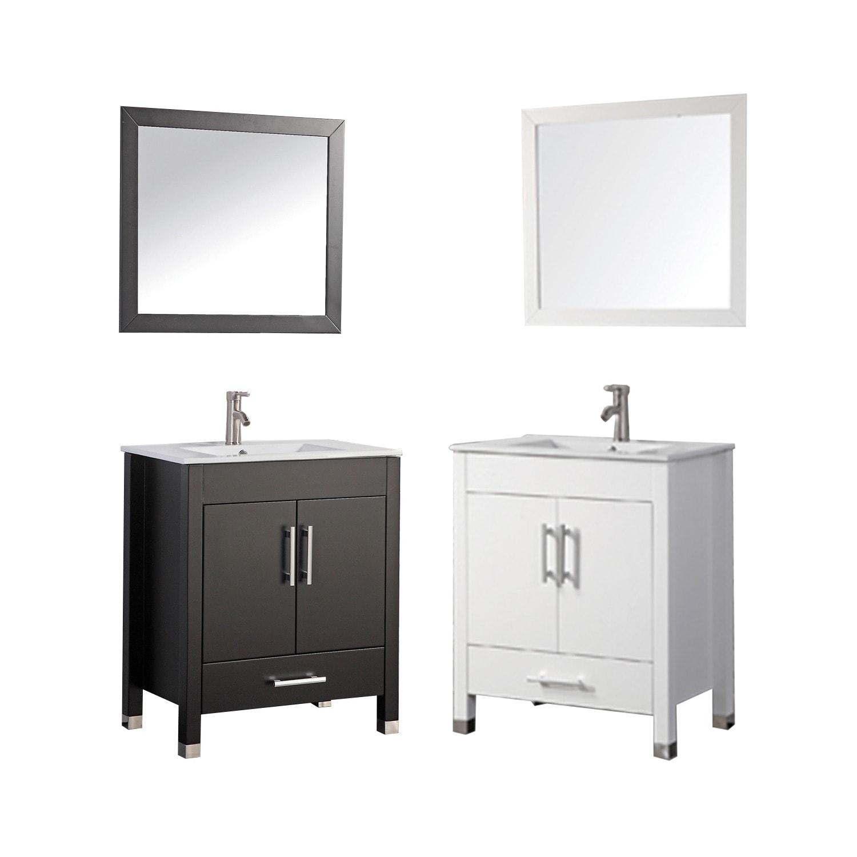 MTD Vanities Monaco 30-inch Single Sink Bathroom Vanity Set with ...
