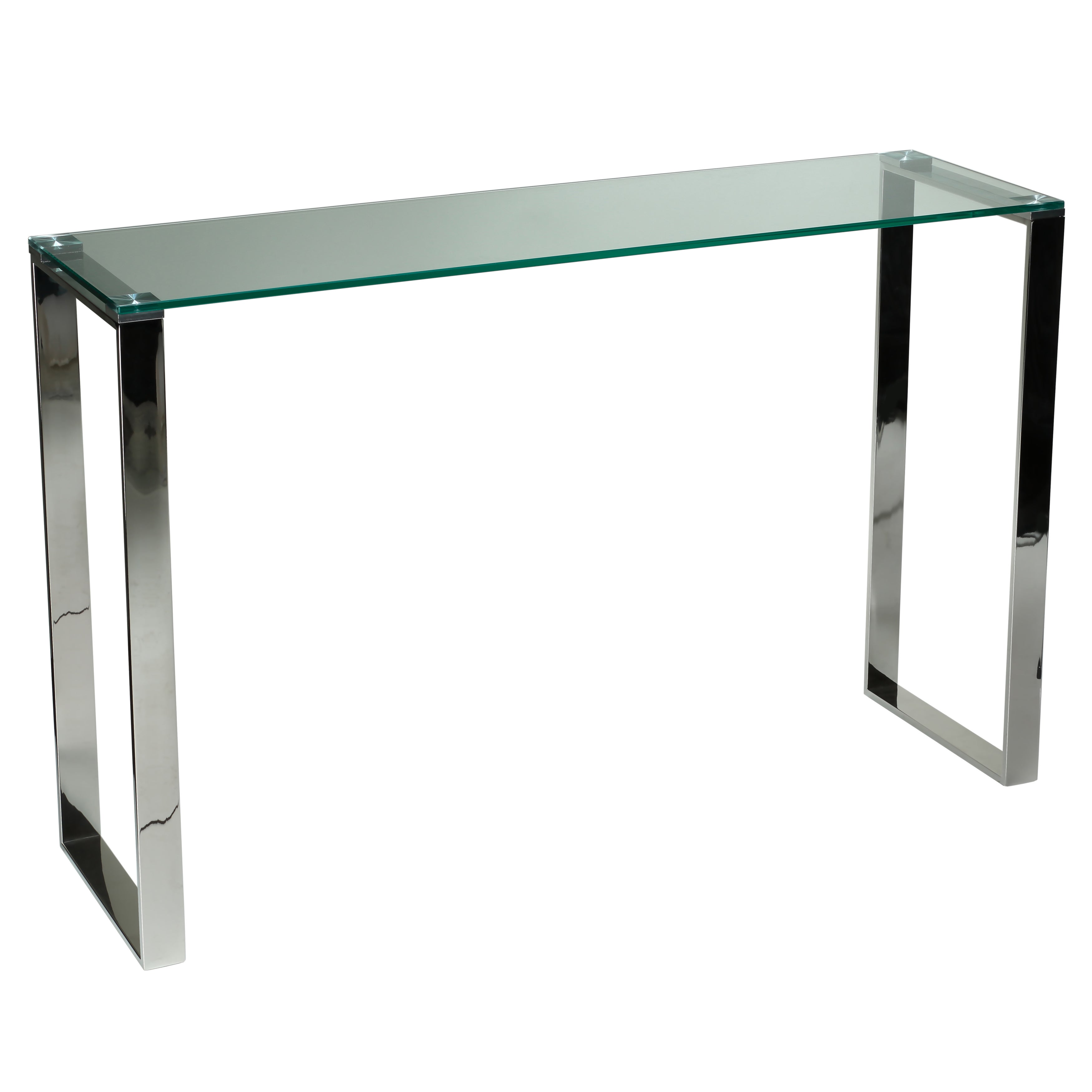 Cortesi Home Remi Contemporary Glass Console Table with Chrome Finish -  Free Shipping Today - Overstock.com - 17513040