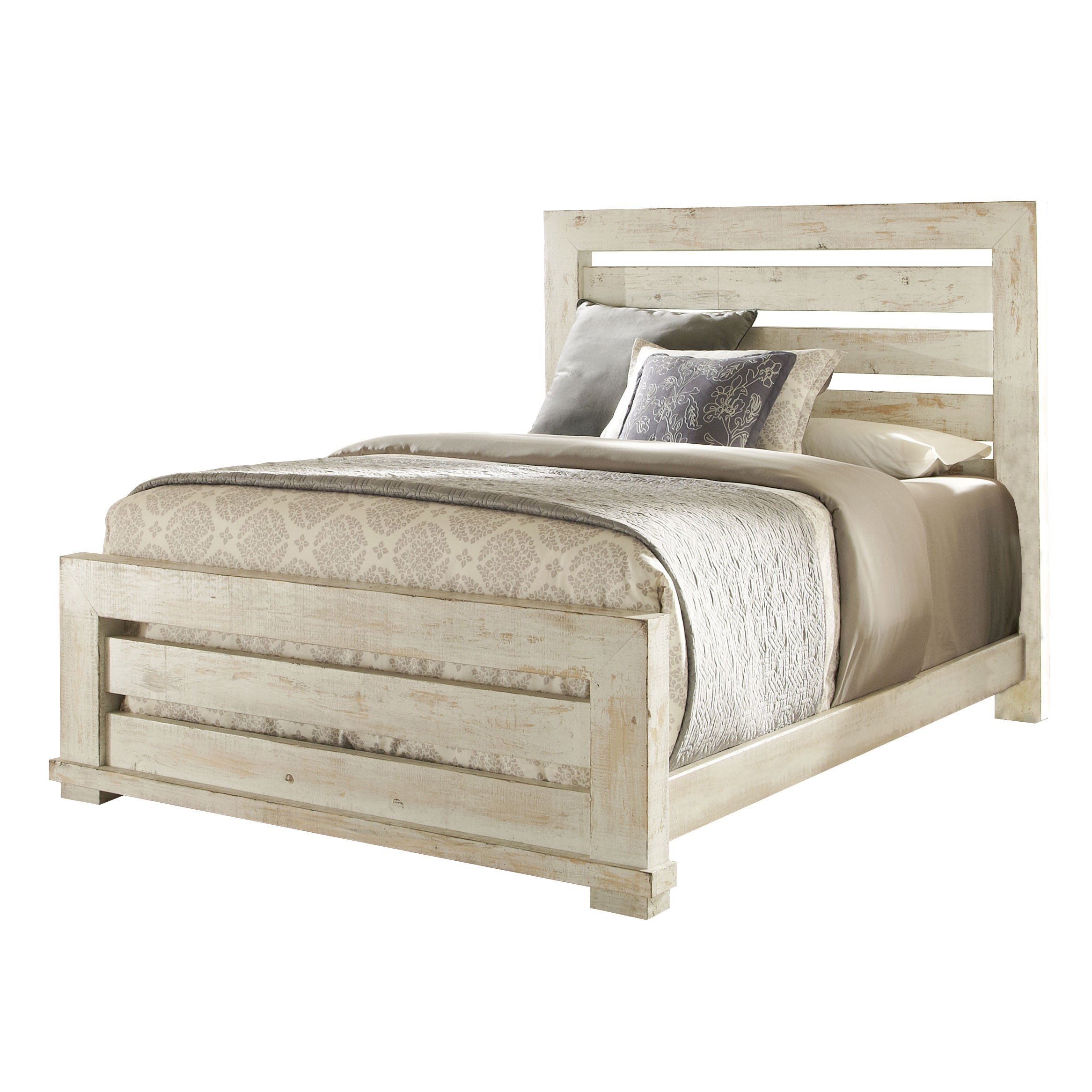 Willow Pine Distressed Slat Bed - Free Shipping Today - Overstock ...