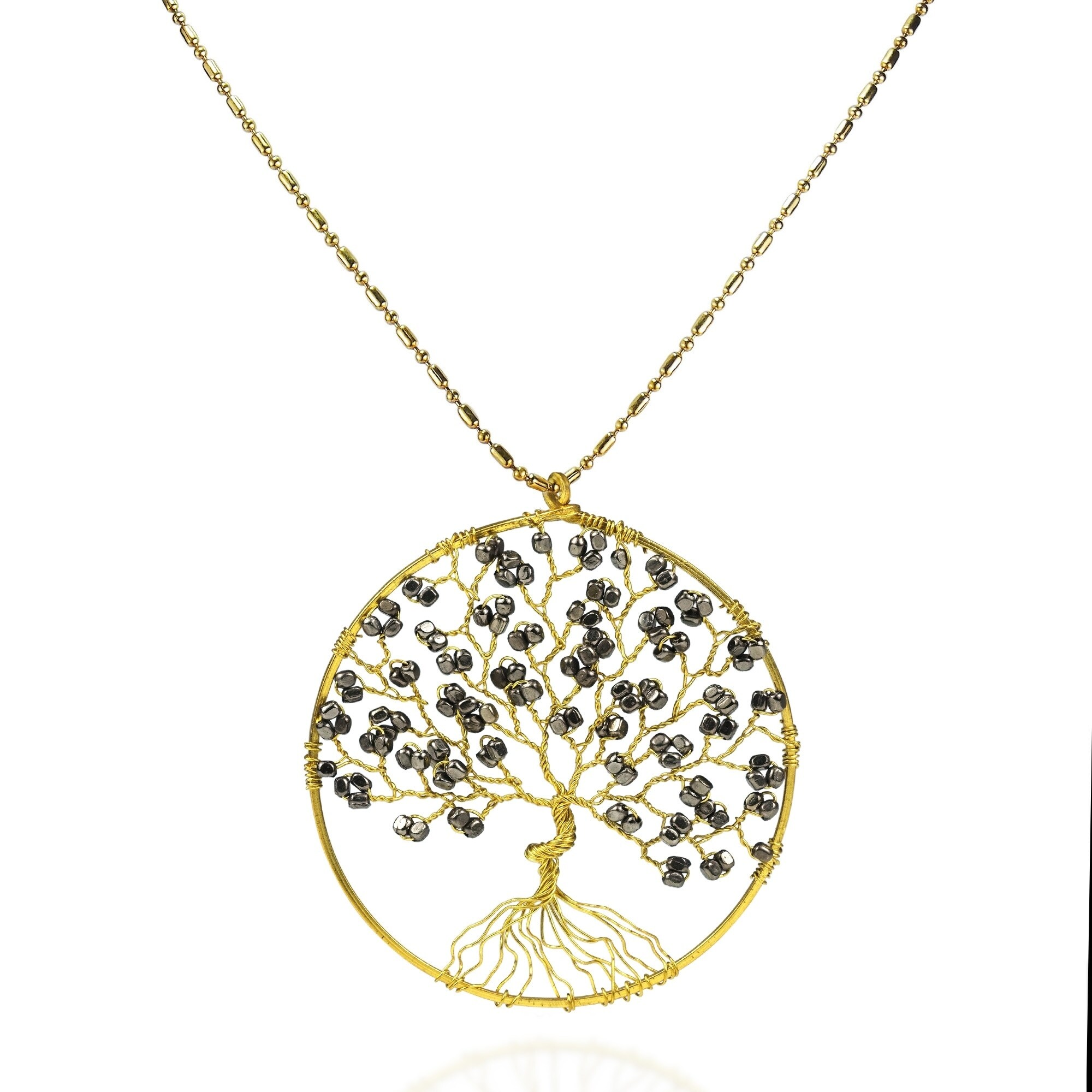 Shop Handmade Tree Of Life Brass Necklace Thailand On Sale