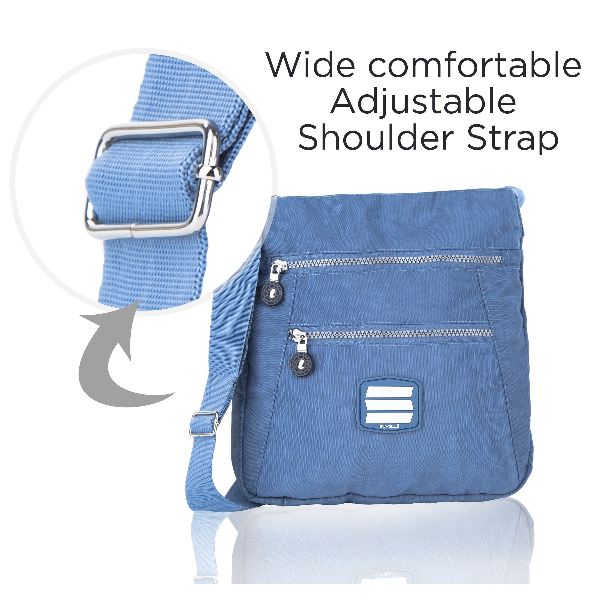 Shop Suvelle 20103 Go-anywhere Travel Crossbody Bag - Ships To Canada -  Overstock - 10416342 41d3681c9b85e