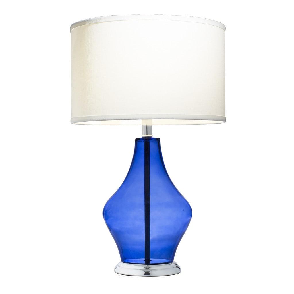 Shop Kichler Lighting 1 Light Dark Blue Glass Table Lamp Free