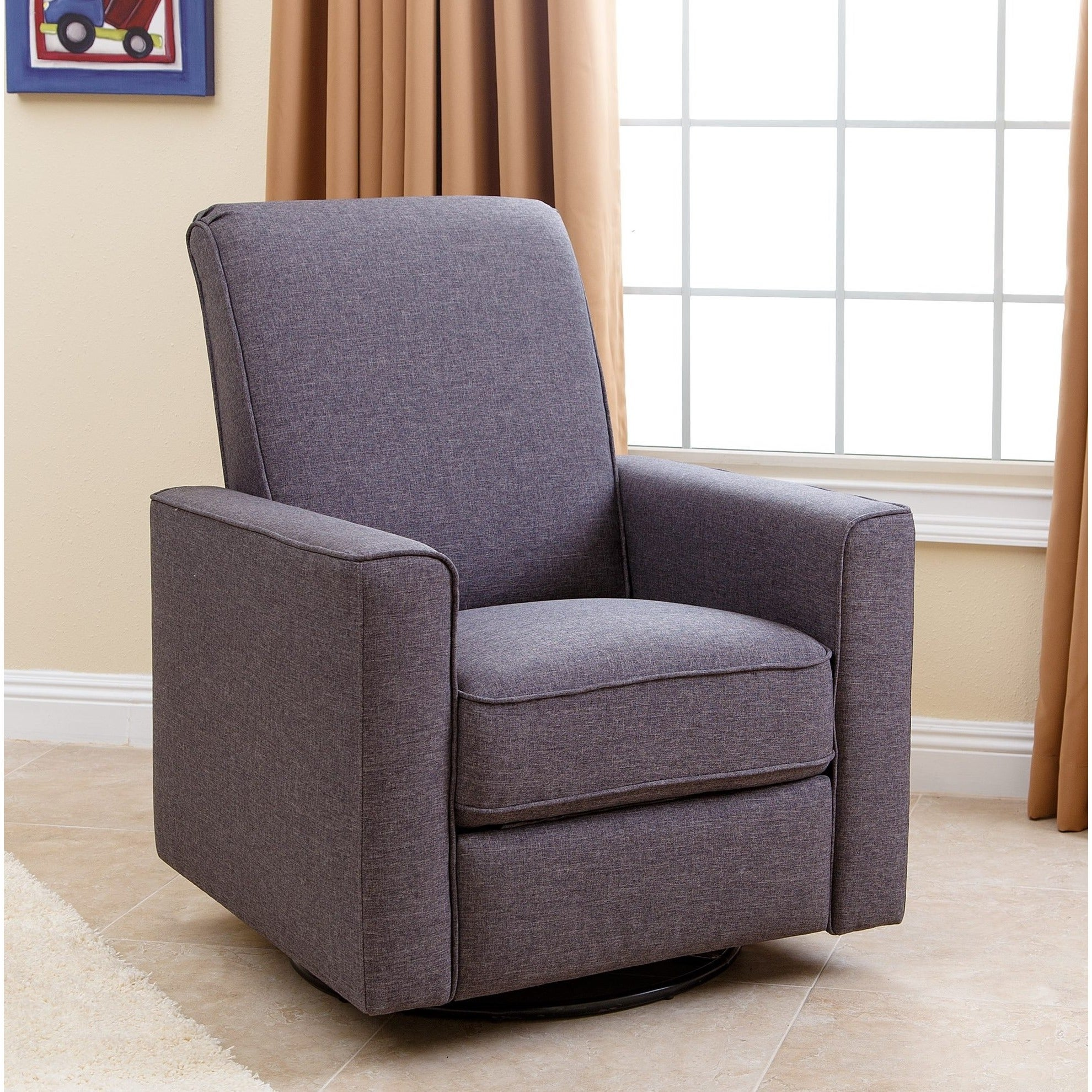 abbyson hampton grey nursery swivel glider recliner chair free
