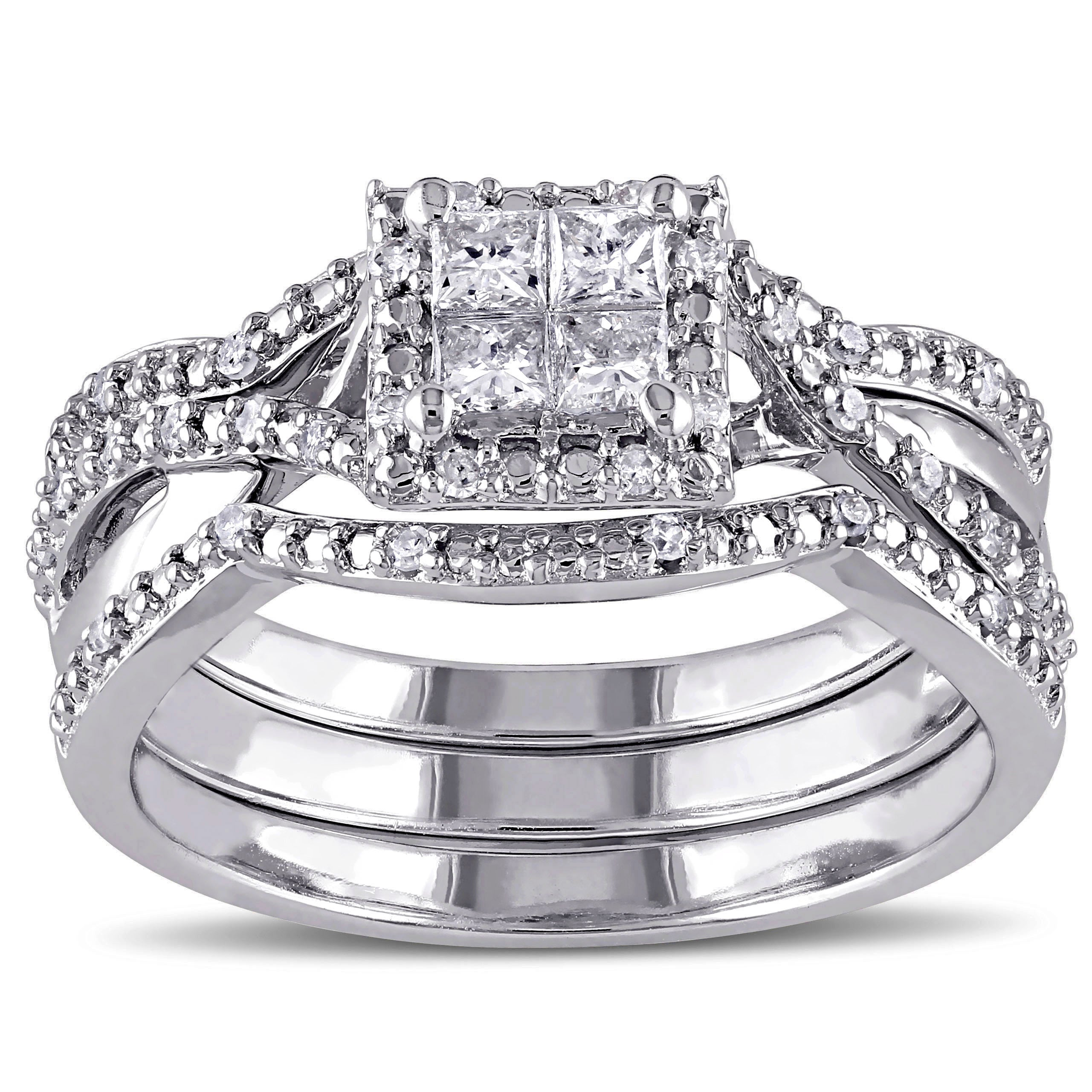 rings com w carat always forever set wedding t walmart platinaire diamond bridal quad ip