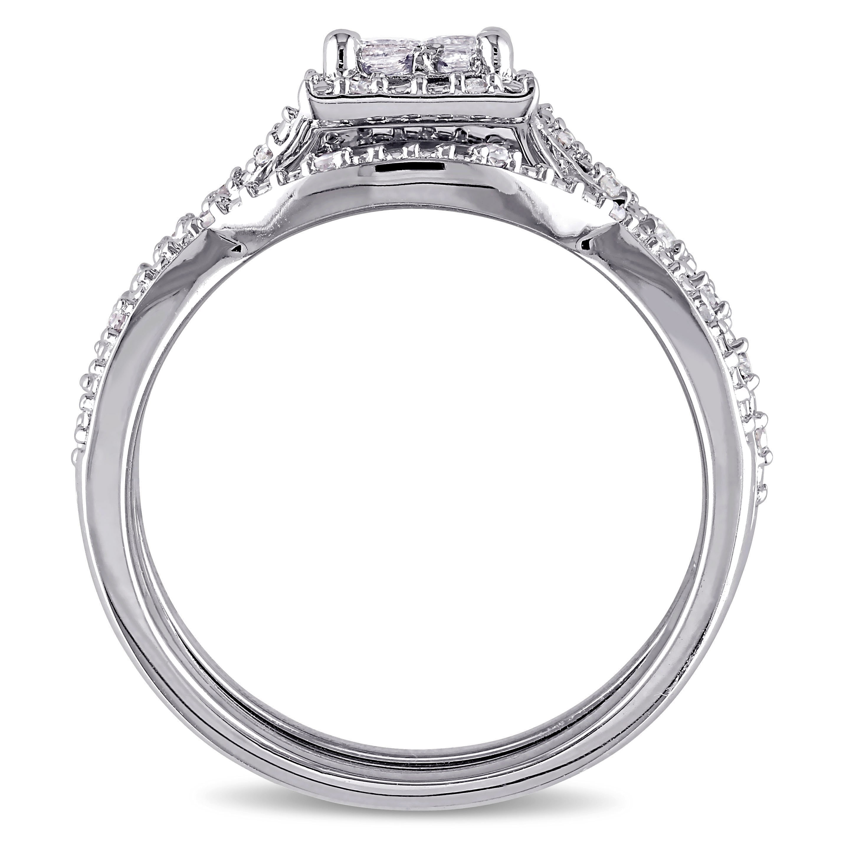 wedding of forever w carat sterling princess diamond quad inspirational com bride walmart t rings silver