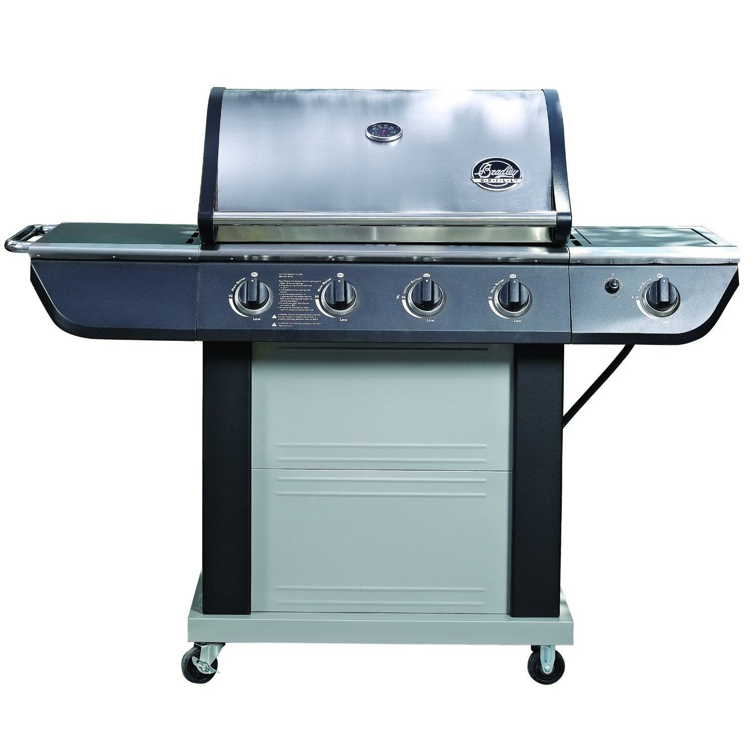 Shop Jim Beam Grill 4-Burner Stainless Steel 61,000 BTU - Free ...