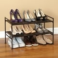 Seville Classics 2-Tier Resin Slatted Shoe Rack