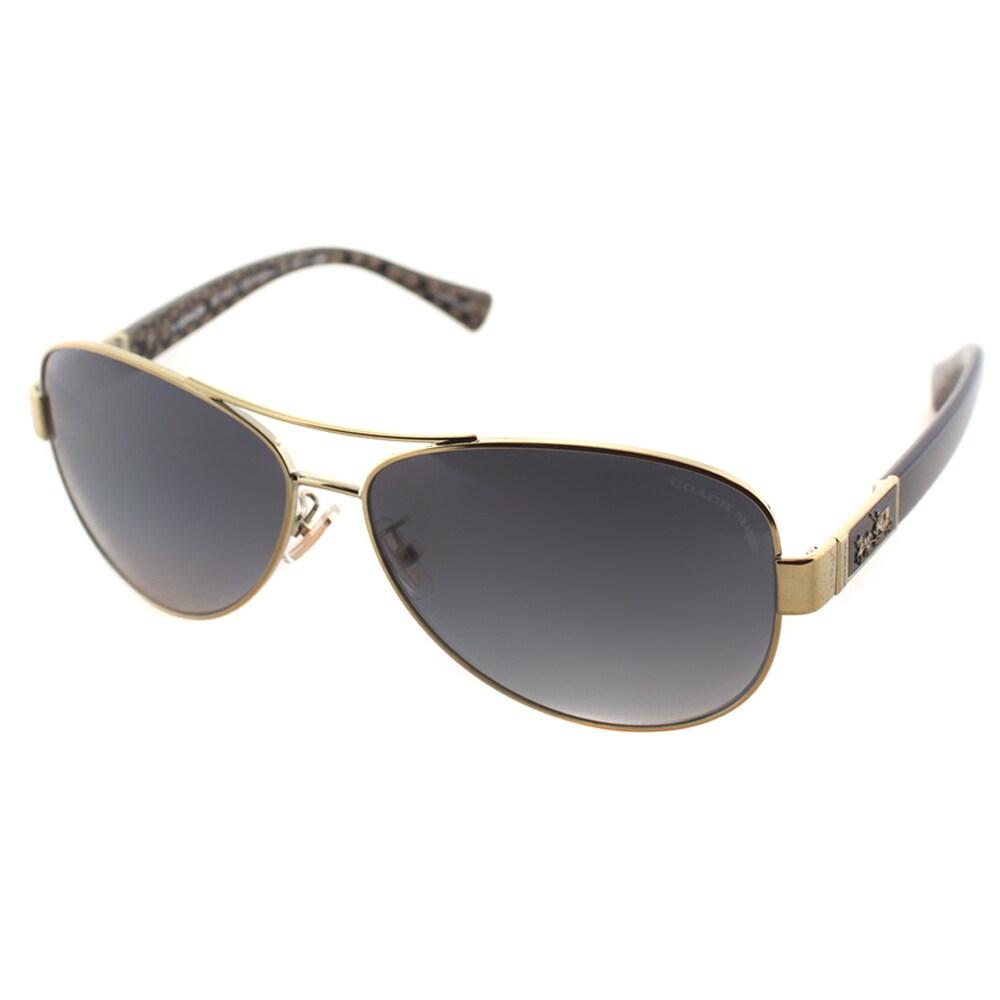 2564f46da48 Coach Womens HC 7047 L103 Christina 9201 T3 Aviator Polarized Sunglasses