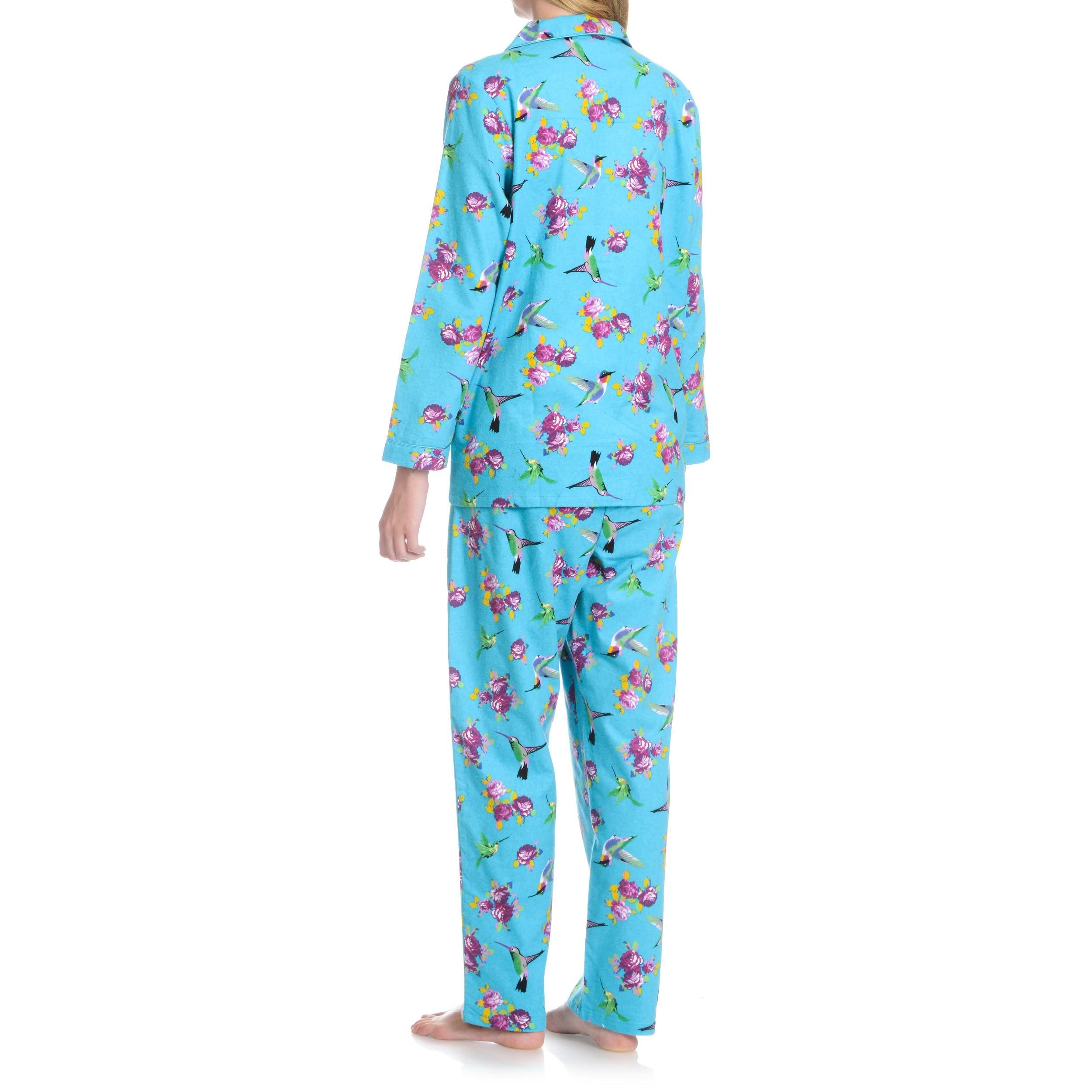 Shop La Cera Women s Hummingbird 2-Piece Pajama Set - Free Shipping On  Orders Over  45 - Overstock - 10423697 6999630f8