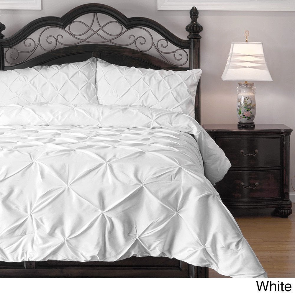 Shop Kotter Home Pinch Pleat Pintuck Comforter Set On Sale Free