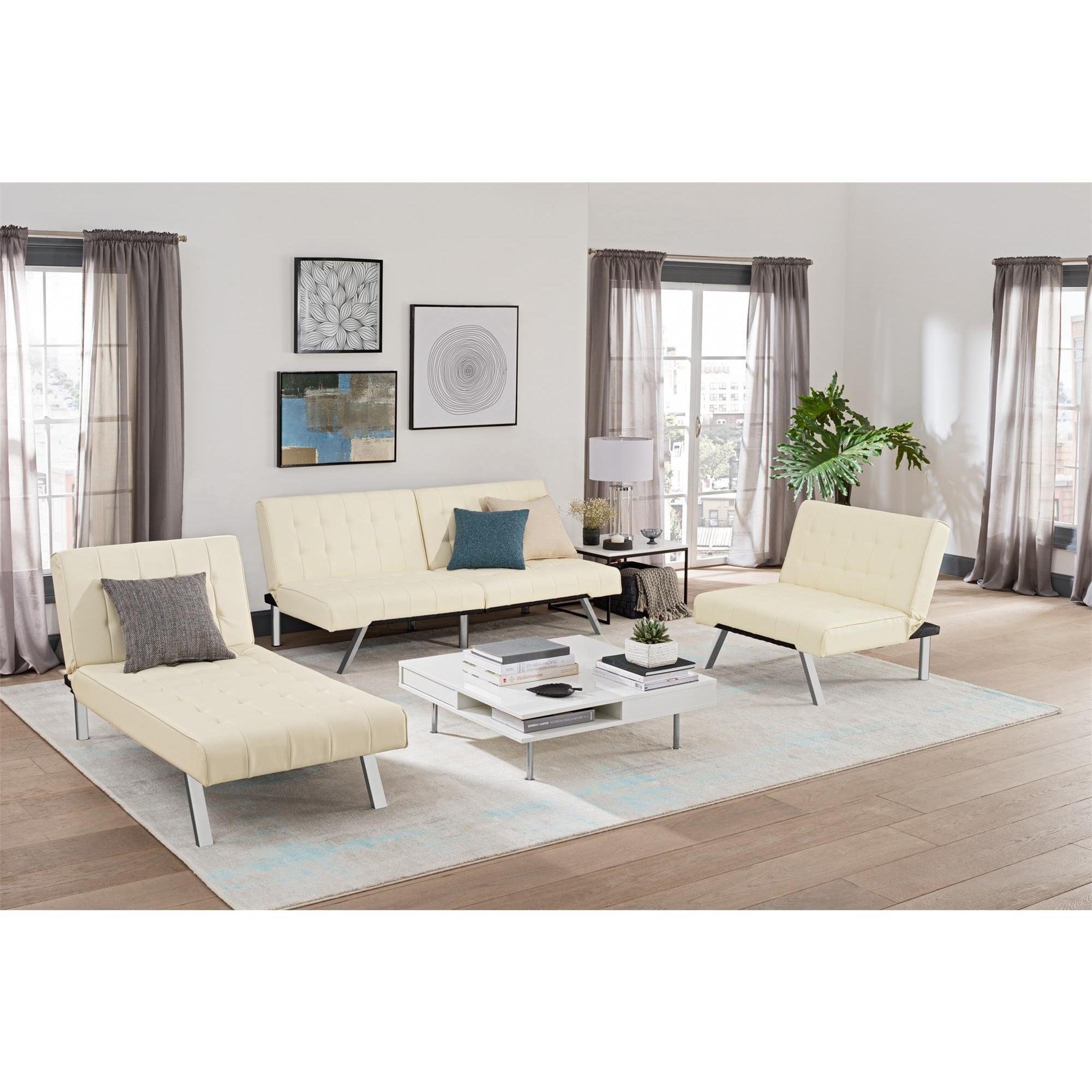 Clay Alder Home Isleton White Convertible Futon - Free Shipping ...