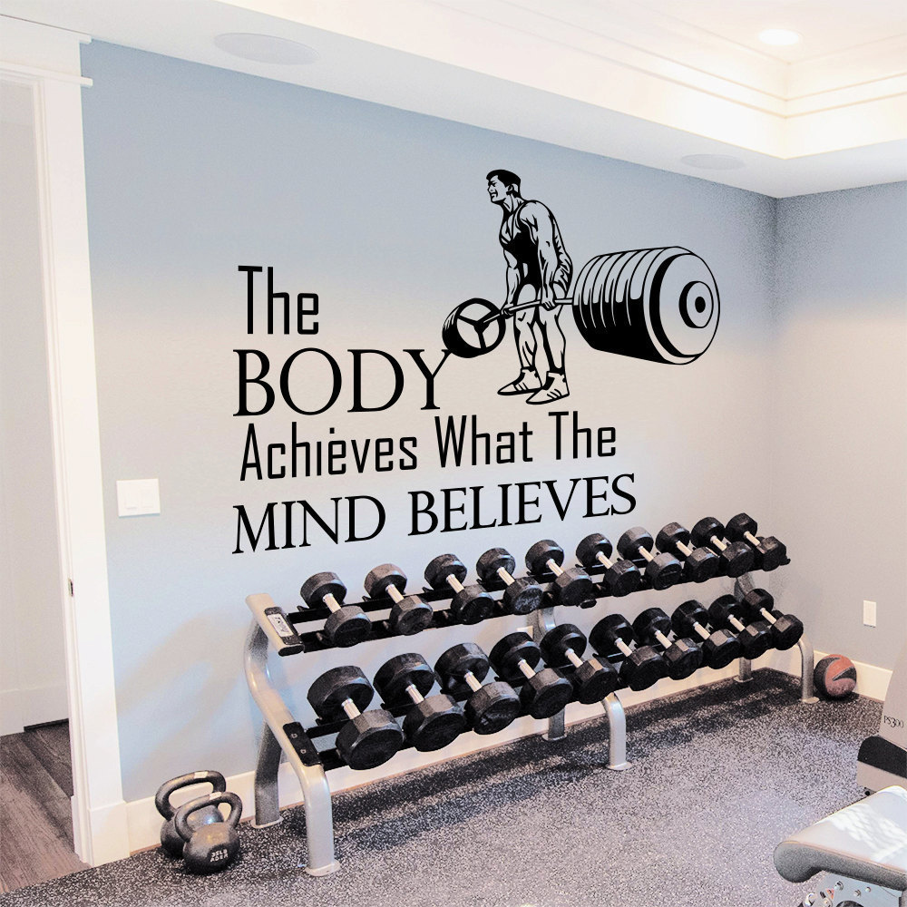 Shop gym inspirational quote vinyl sticker wall art free shipping